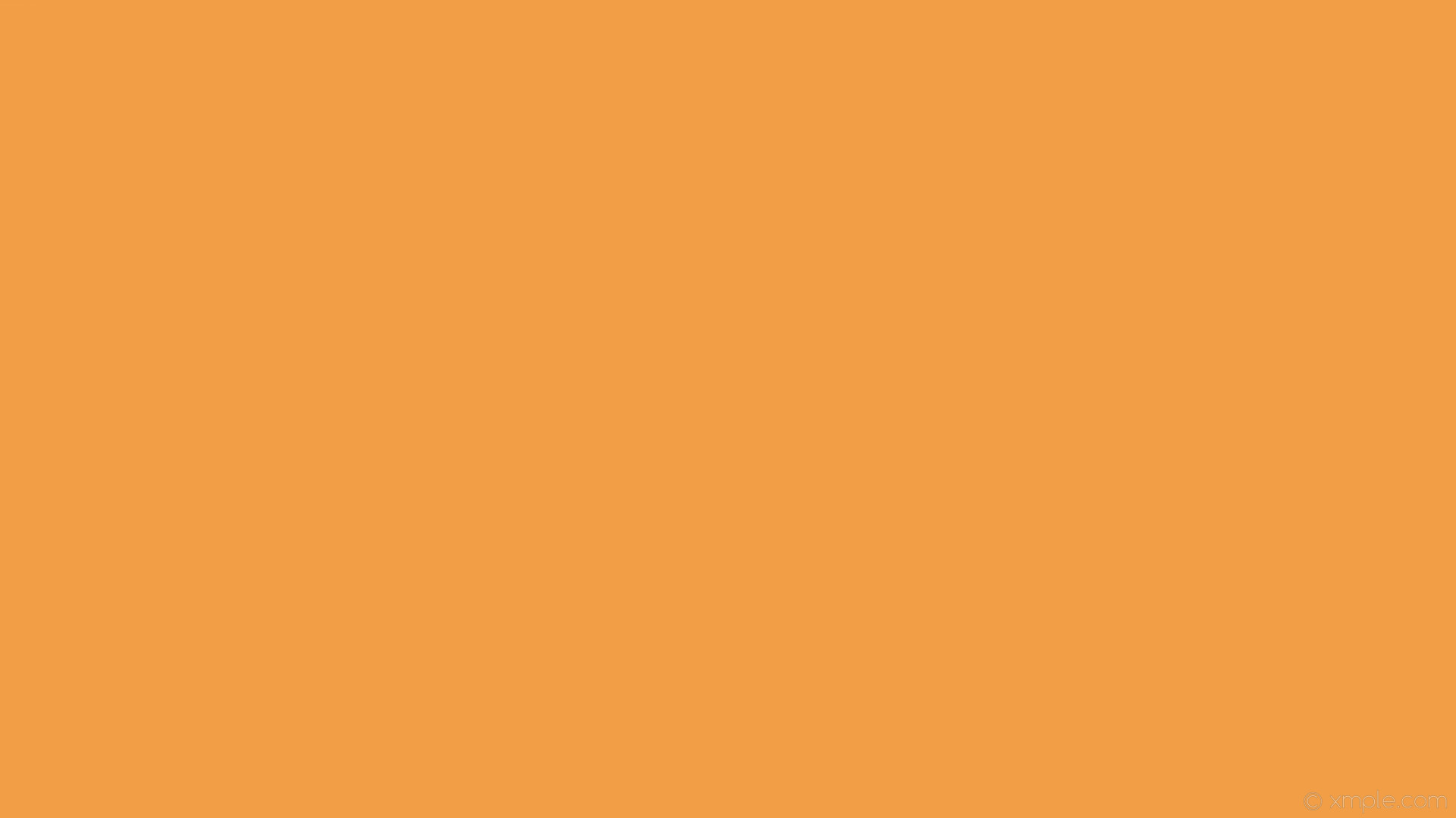 1920x1080 wallpaper single orange plain one colour solid color #f19e46
