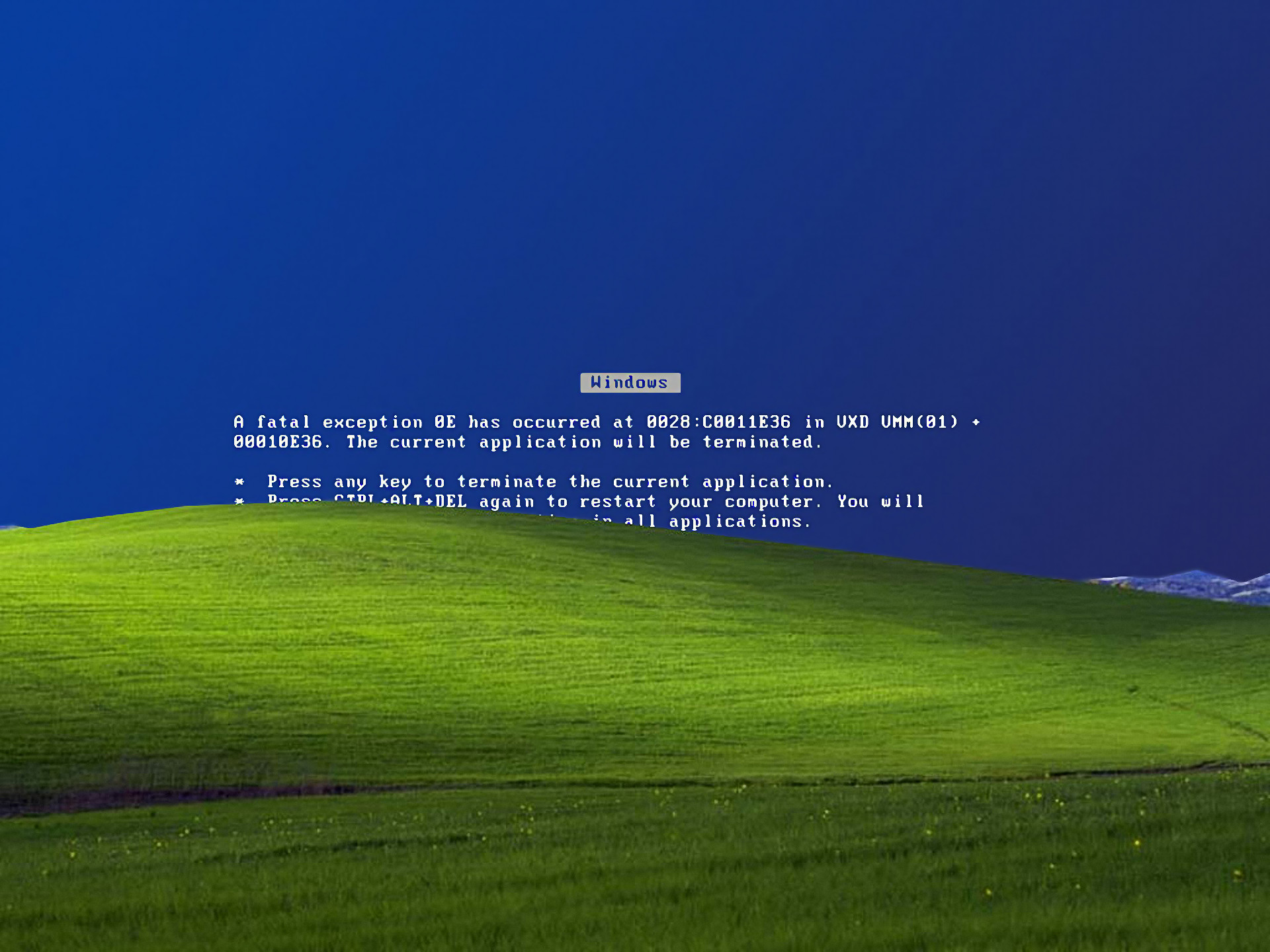 1920x1440 Windows XP error Microsoft Windows Blue Screen of Death wallpaper |   | 224463 | WallpaperUP