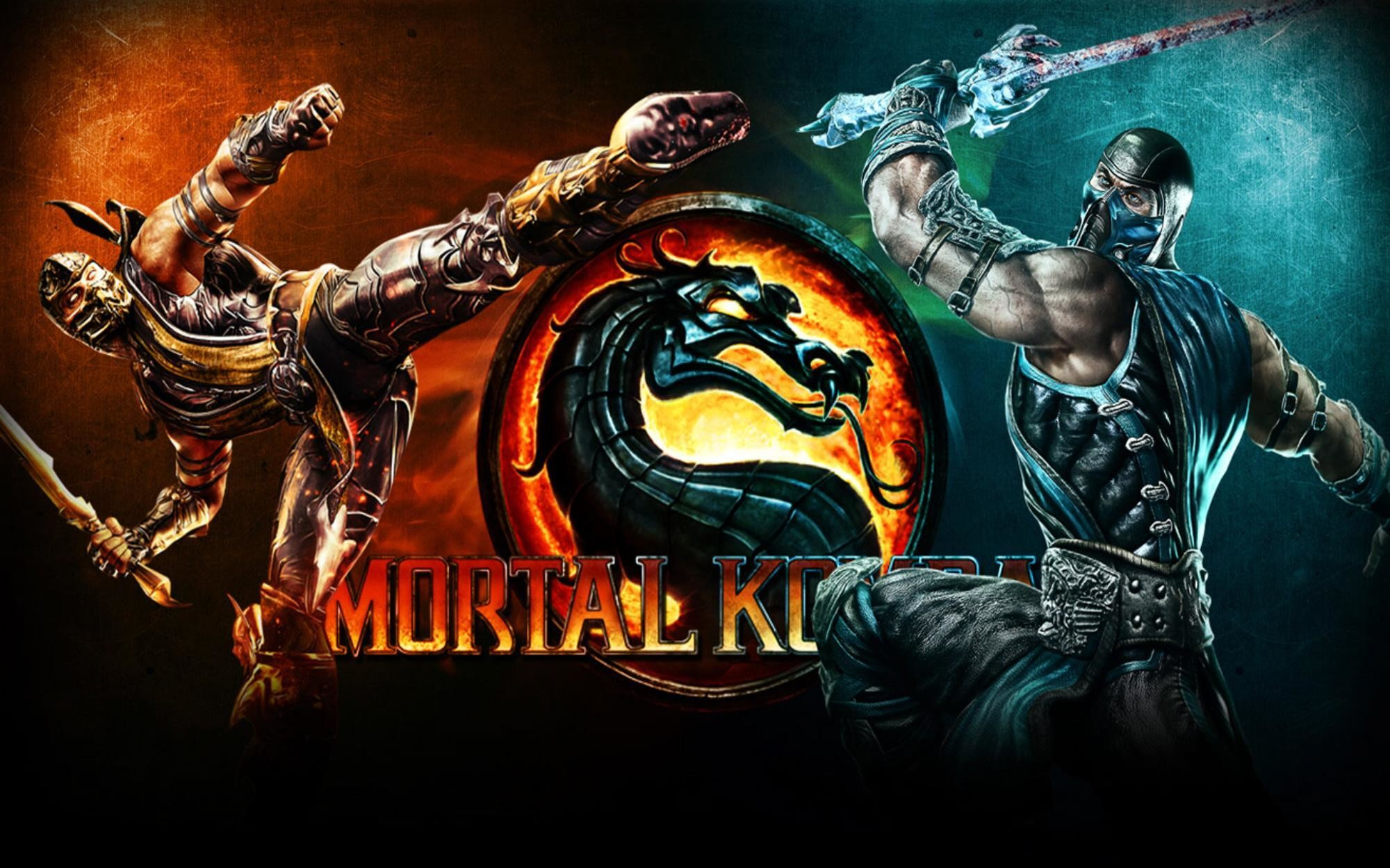 2000x1250 Mortal Kombat wallpaper Sub-Zero and Scorpion and logo Read more