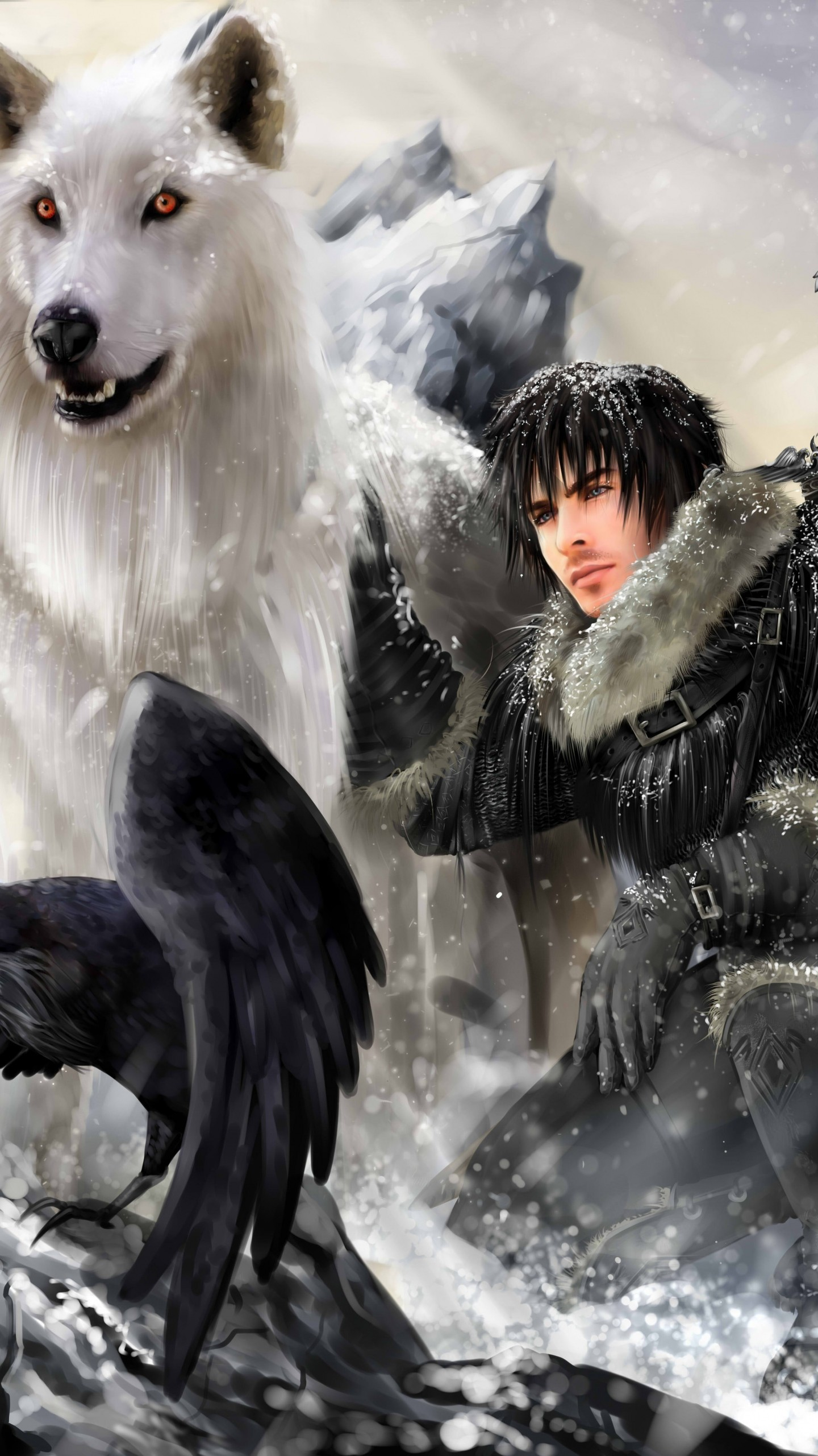 1440x2560 Preview wallpaper the song of ice and fire, game of thrones, jon snow,