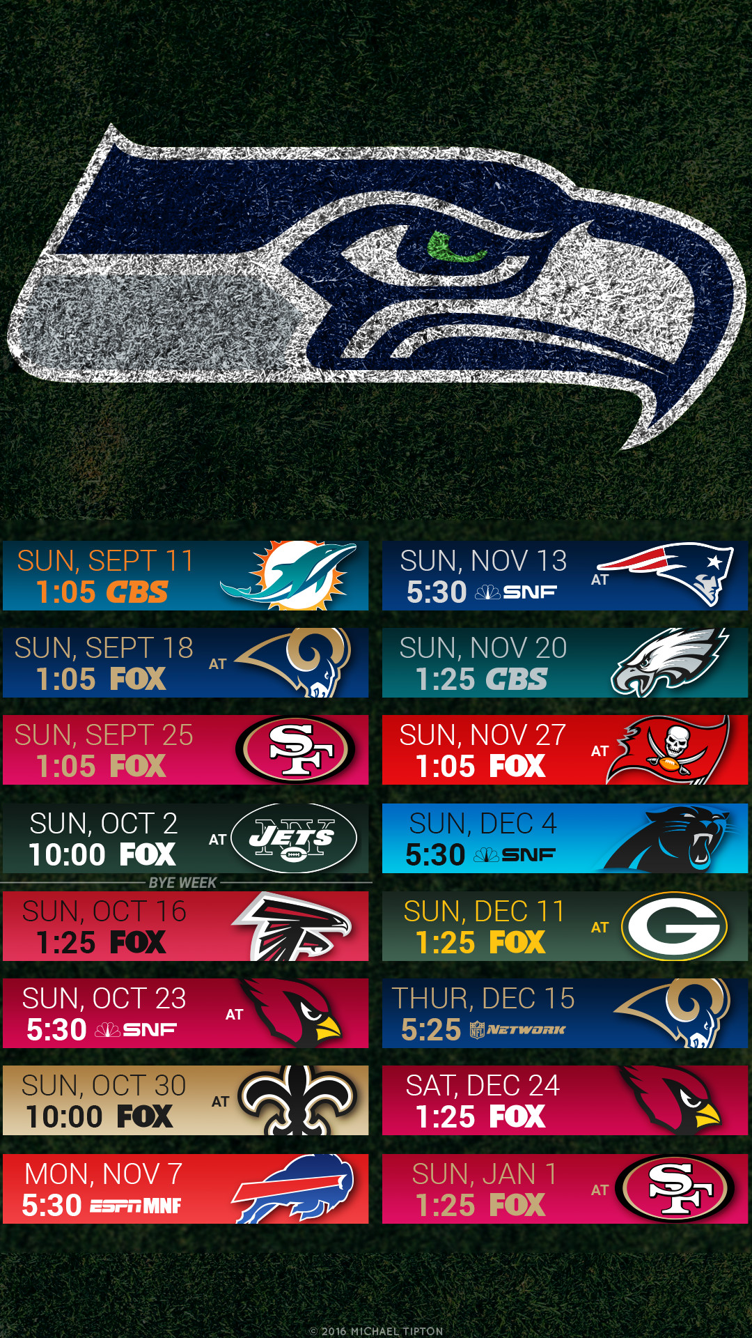 1080x1920 Seattle Seahawks 2017 HD 4k Schedule Wallpaper