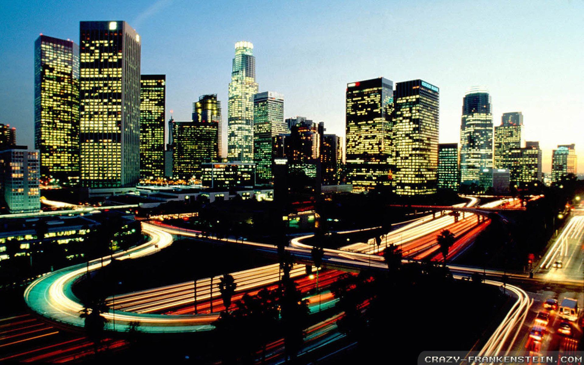 1920x1200 Wallpaper: Sunset On Los Angeles City Resolution: 1024x768 | 1280x1024 |  1600x1200. Widescreen Res: 1440x900 | 1680x1050 |