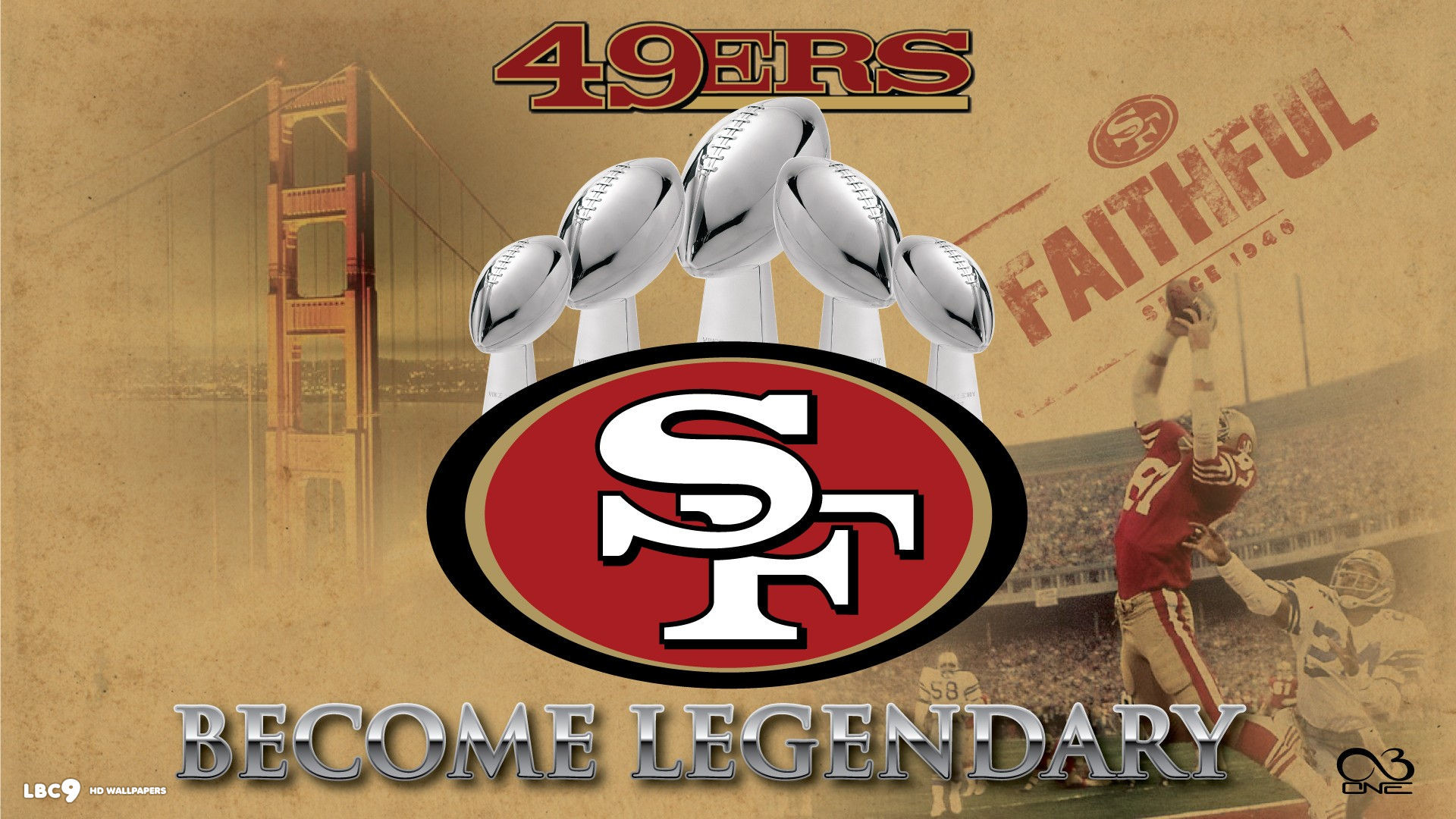 Sf 49ers wallpaper 69 images 1920x1080 49ers san francisco logo hd wallpaper voltagebd Image collections