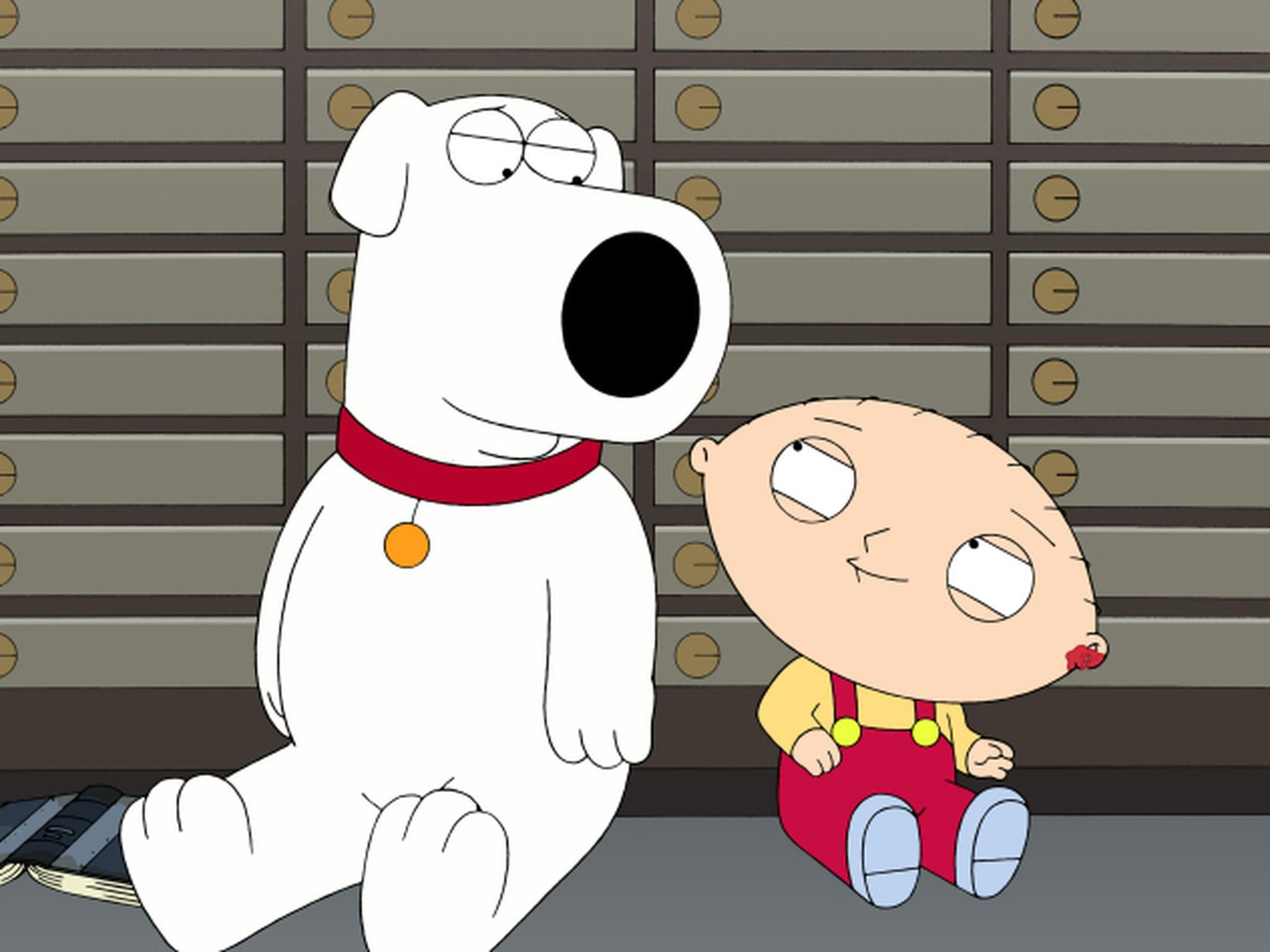 2048x1536 Seth MacFarlane voices several characters on Family Guy, including Brian  (left) and Stewie (right) Griffin.