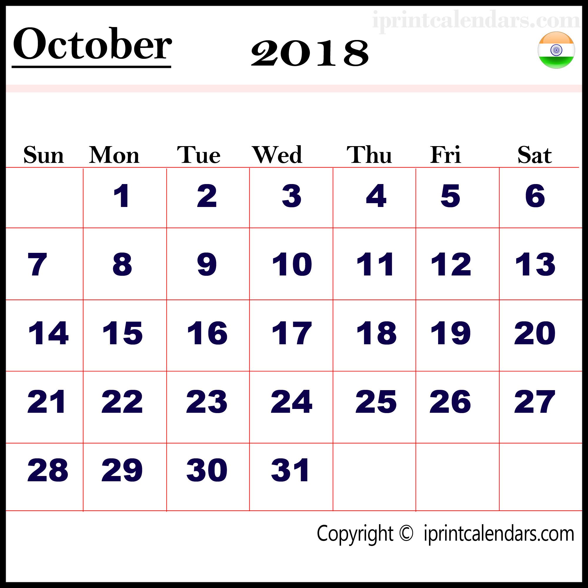 Calener October: Desktop Wallpapers Calendar October 2018 (57+ Images