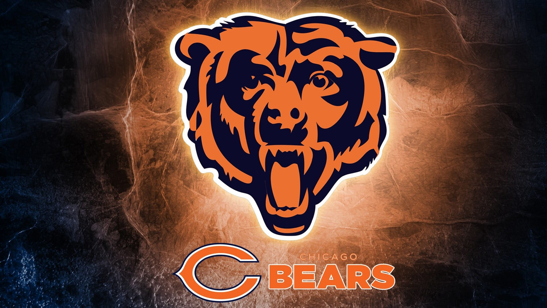 1920x1080 nfl team logos 2014. Chicago Bears logo Hd 1080p high quality Wallpaper  screen size 1920X1080