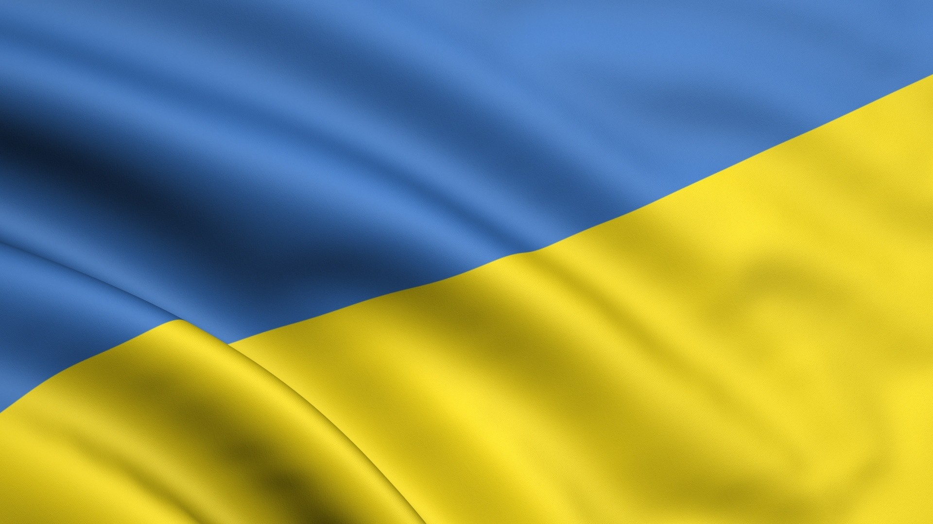 1920x1080  Wallpaper yellow, blue, flag, ukraine