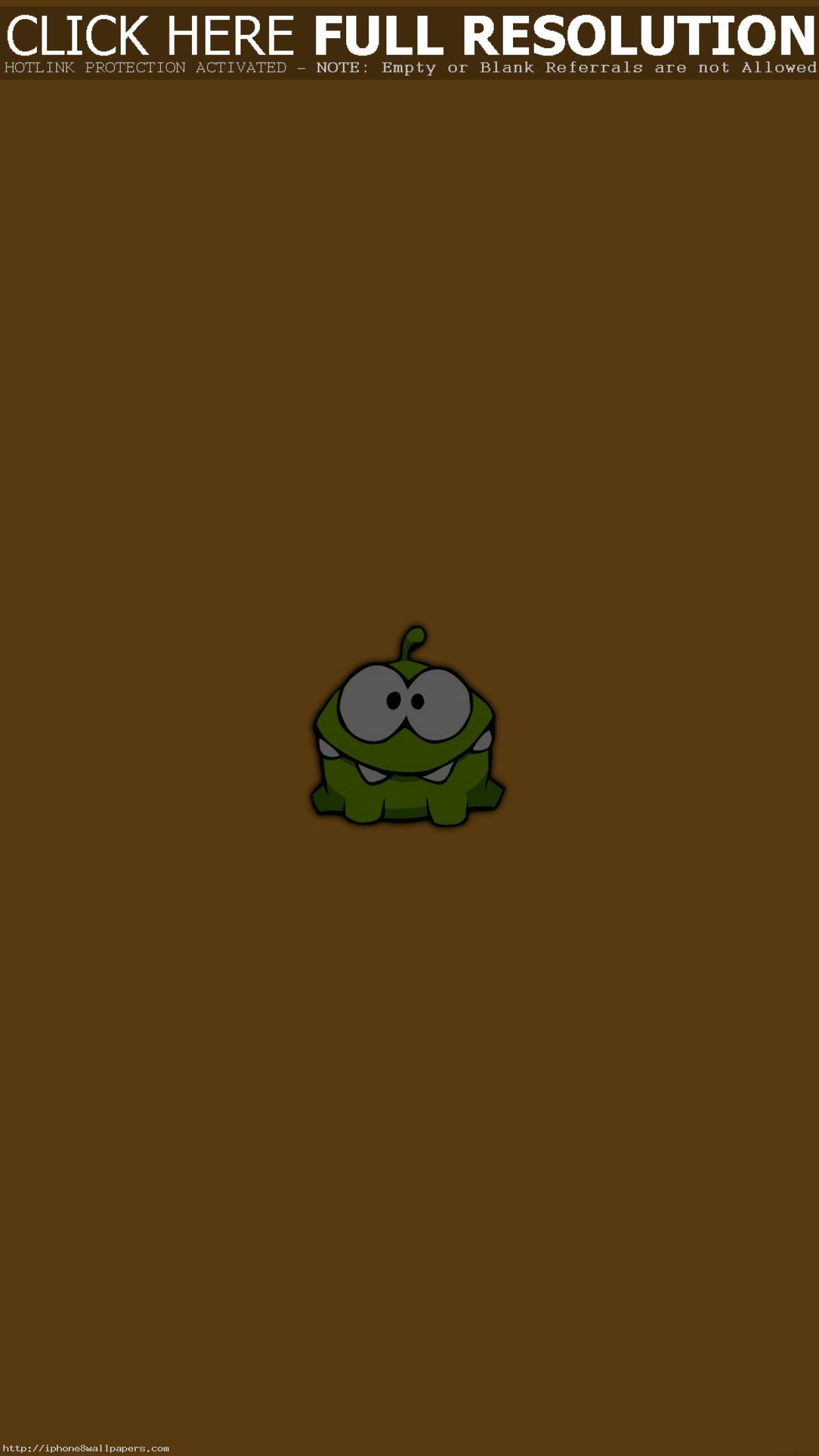 1242x2208 Game Art Cut The Rope Om Nom Cute Minimal Android wallpaper - Android HD  wallpapers
