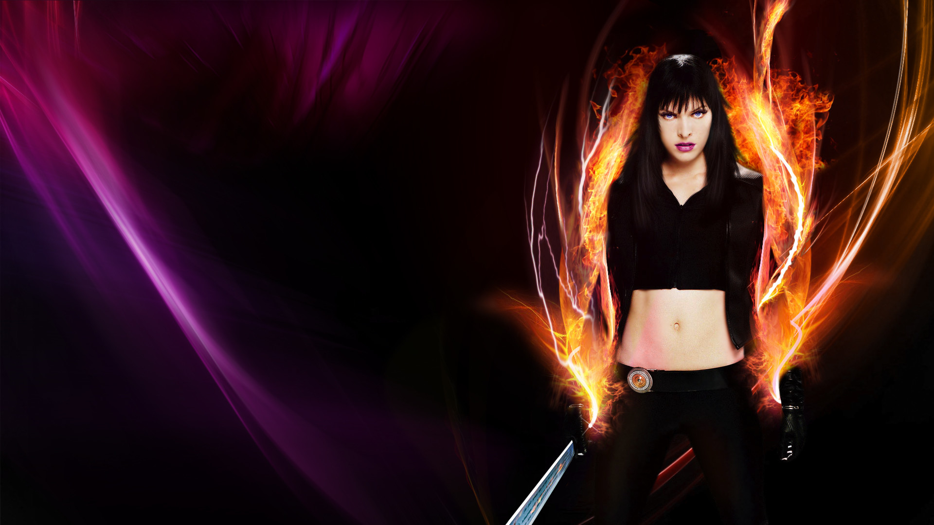 1920x1080 Ultraviolet, HD Wallpaper and background photos of Ultraviolet_MiX_Milla  for fans of Milla Jovovich images.