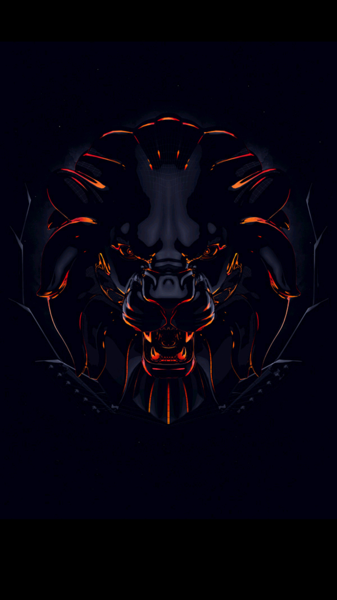 1080x1920 I share you this animated lion's head picture as one of the coolest badass  wallpapers for Android phones. This wallpaper is the #17 of all 40 badass  ...