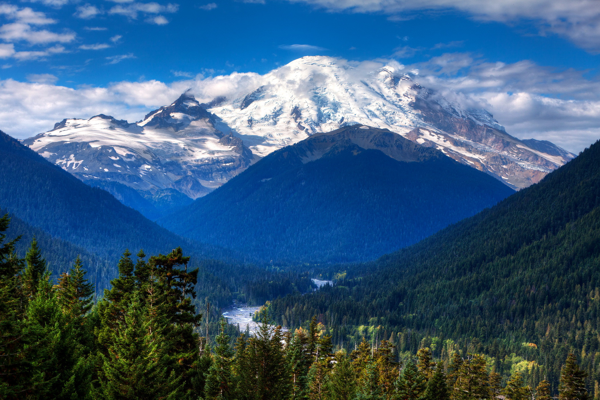 2100x1400 Images Mount Rainier Park USA Washington Nature Mountains Parks