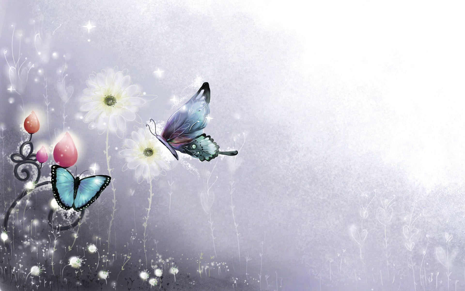 1920x1200 Animation Background Wallpapers Butterfly Abstract Wallpaper