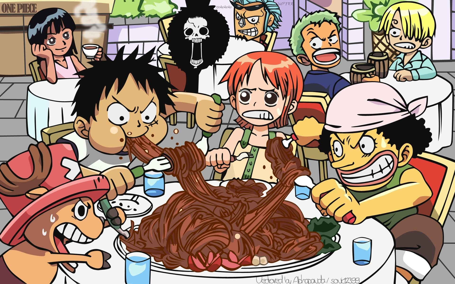 2268x1175 Wallpapers For One Piece New World Wallpaper Chibi