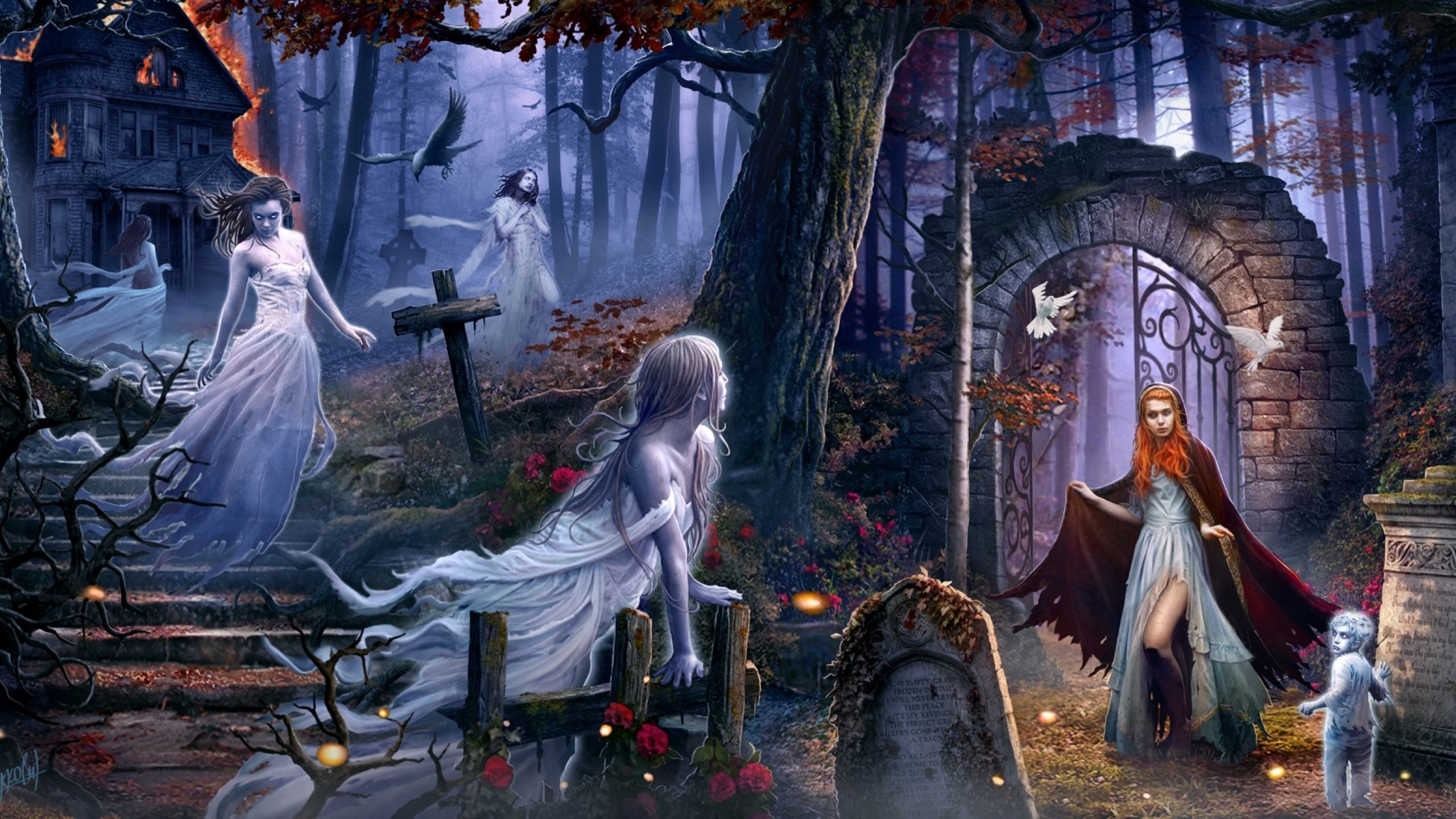 creepy halloween wallpapers for desktop 62 images
