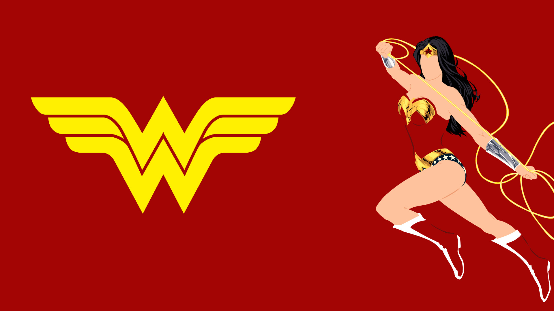1920x1080 Wonder Woman Logo Wallpapers