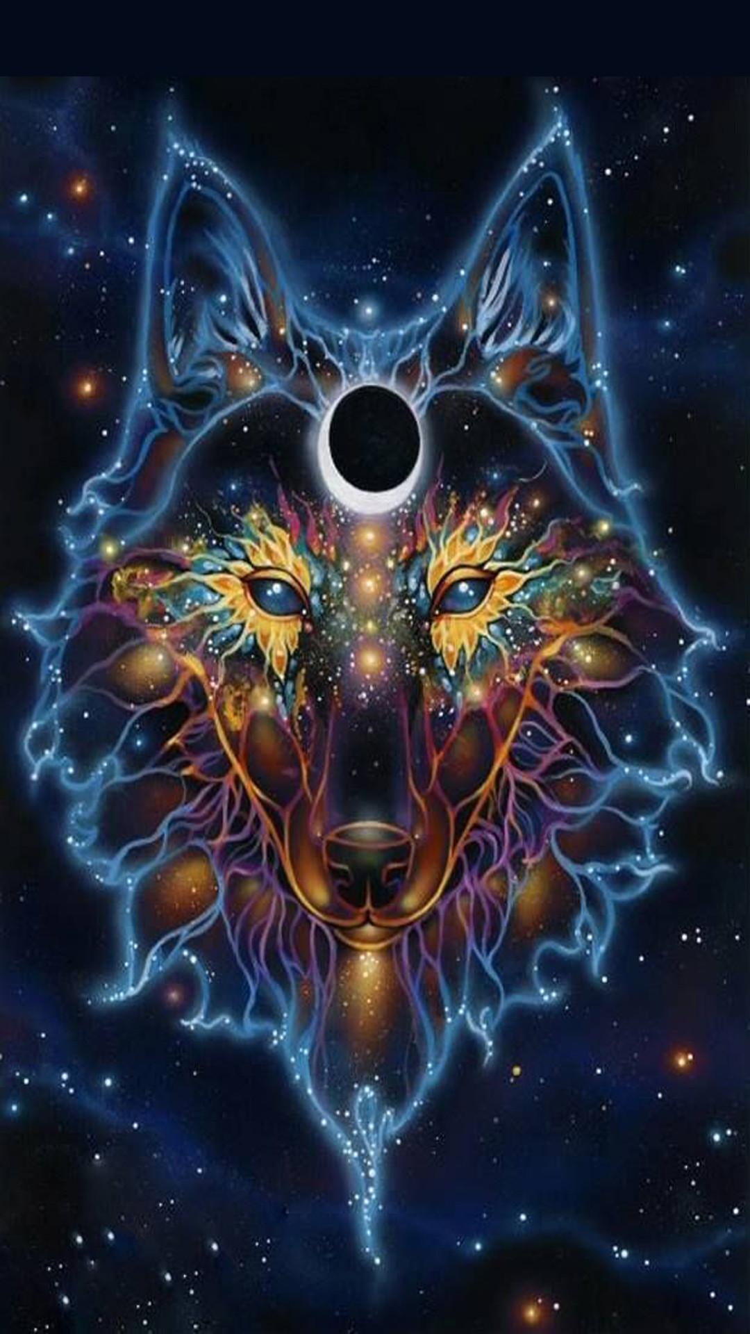 blue flame wolf wallpaper wwwpixsharkcom images
