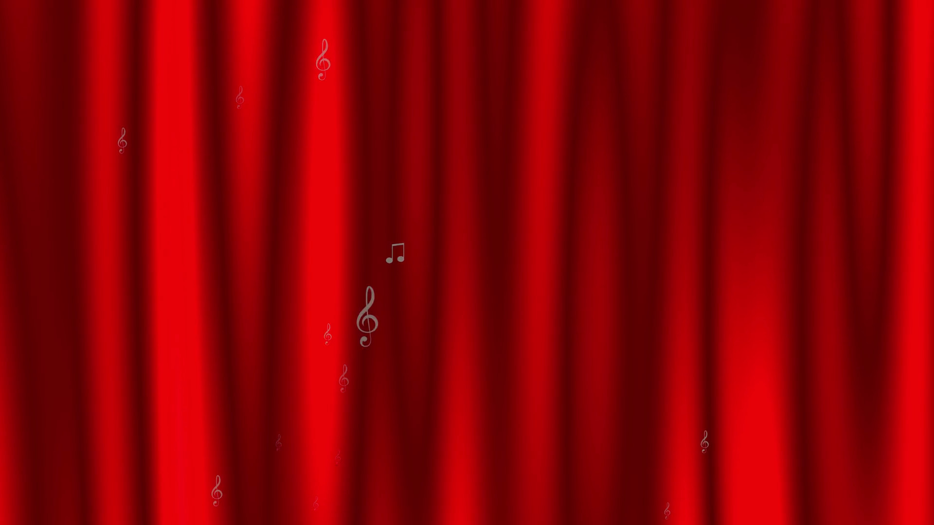 1920x1080 Animated dynamic background with music notes and marks on the background of  a stylized red theater curtain Motion Background - VideoBlocks