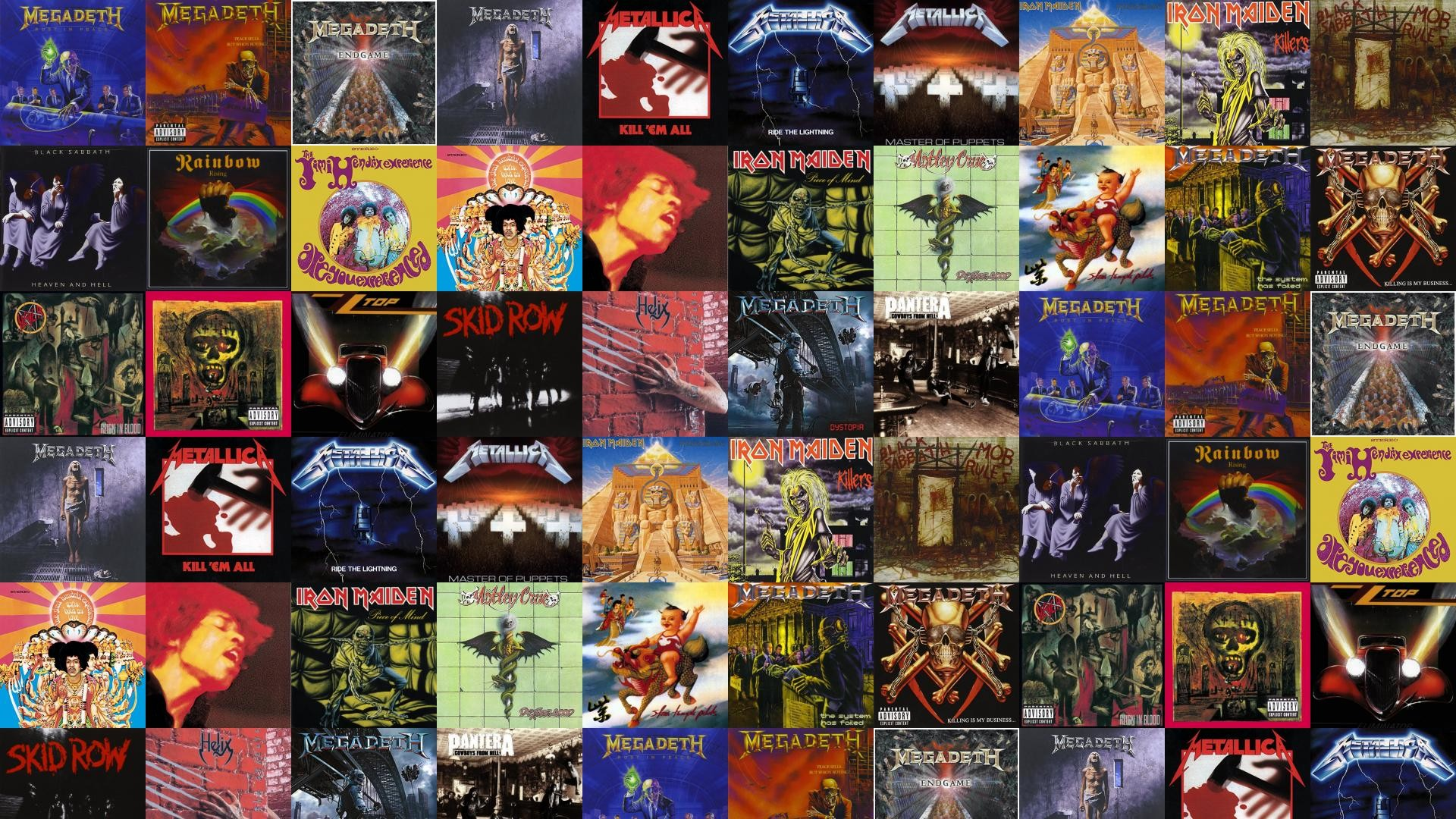 1920x1080 ... Megadeth – Peace Sells, Megadeth – Endgame, Megadeth – Countdown To  Extinction, Metallica – Kill Em All, Metallica – Ride The Lightning ...