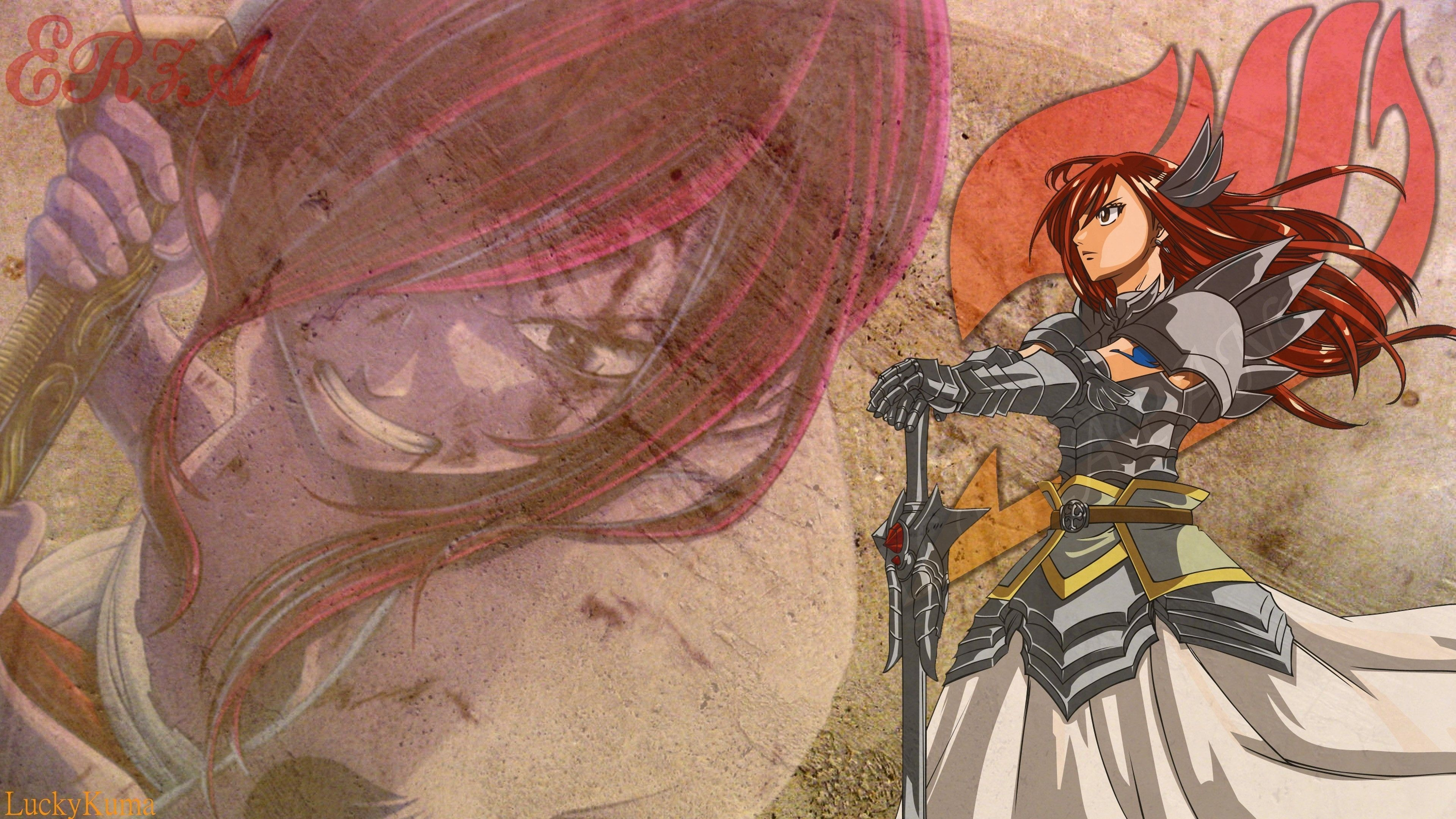 3840x2160 HD Backgrounds Erza Scarlet.