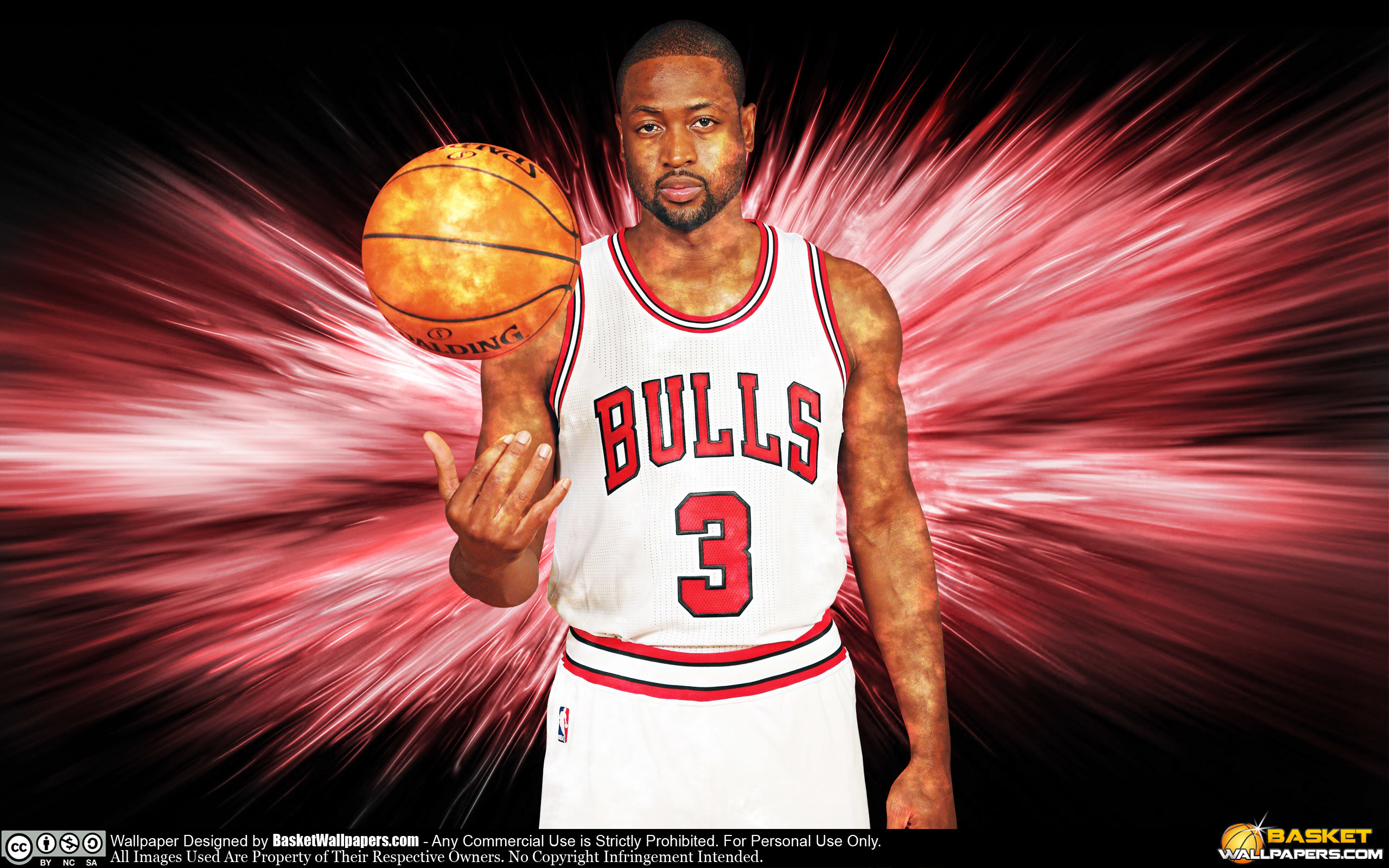 2560x1600 Dwyane Wade Chicago Bulls 2016 Wallpaper