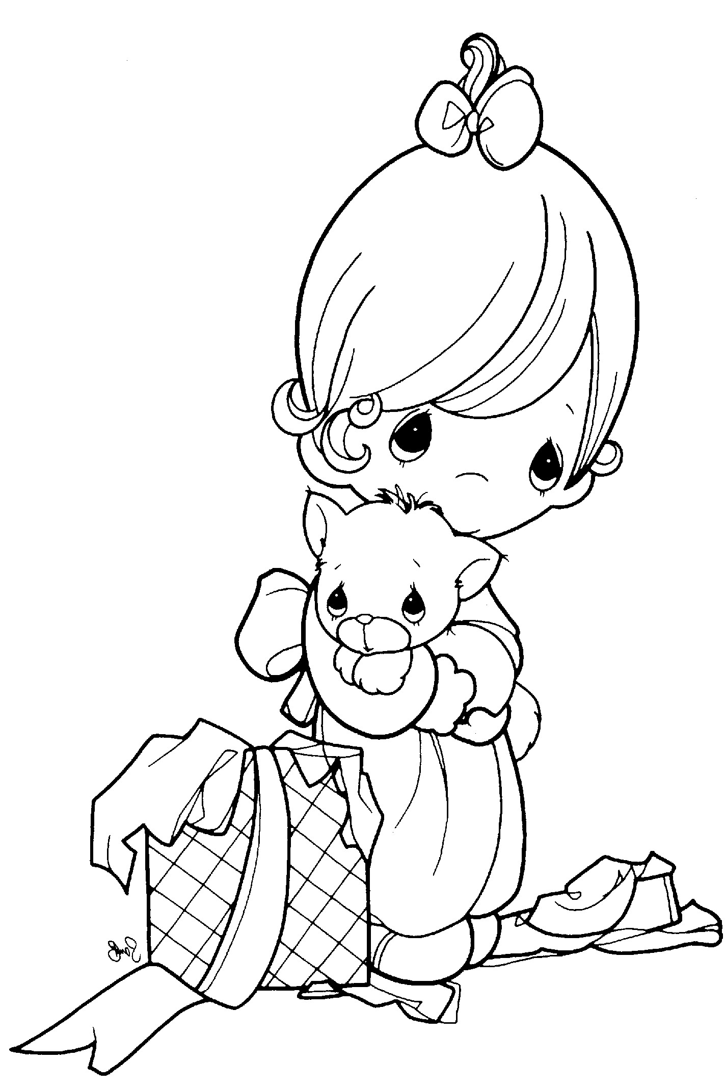 precious moments coloring pages autumn - photo#20