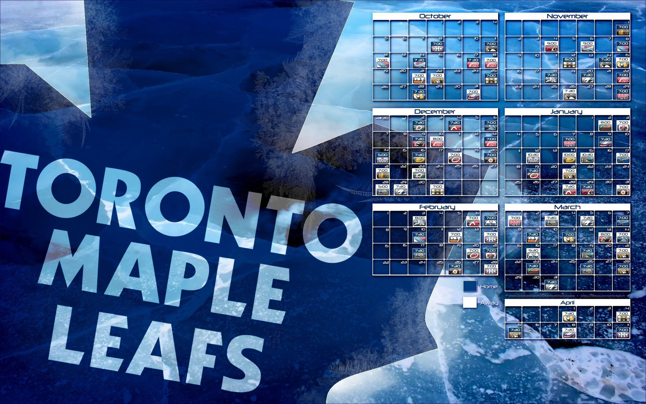 2560x1600 2014-2015 Toronto Maple Leafs schedule wallpaper by bbboz on .