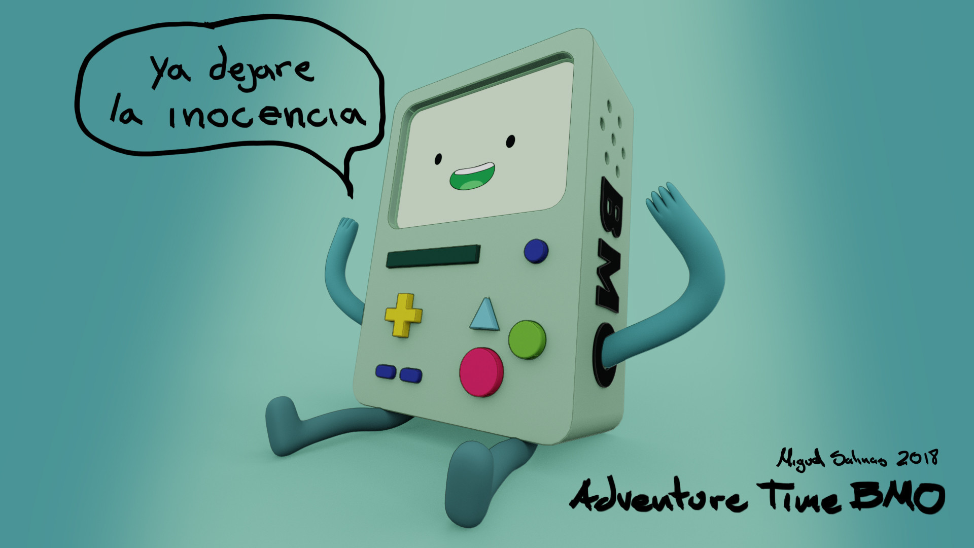 1920x1080 Adventure Time BMO