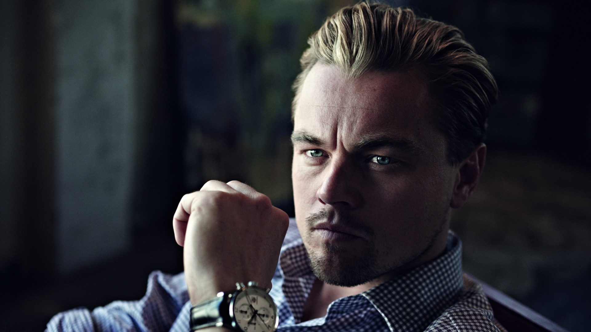 1920x1080 Preview wallpaper leonardo dicaprio, actor, man, watch, bristles