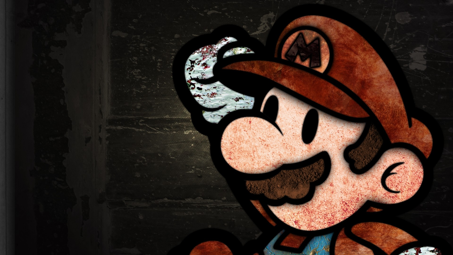 1920x1080 Preview wallpaper mario, mustache, background, graphics, face, look, cap