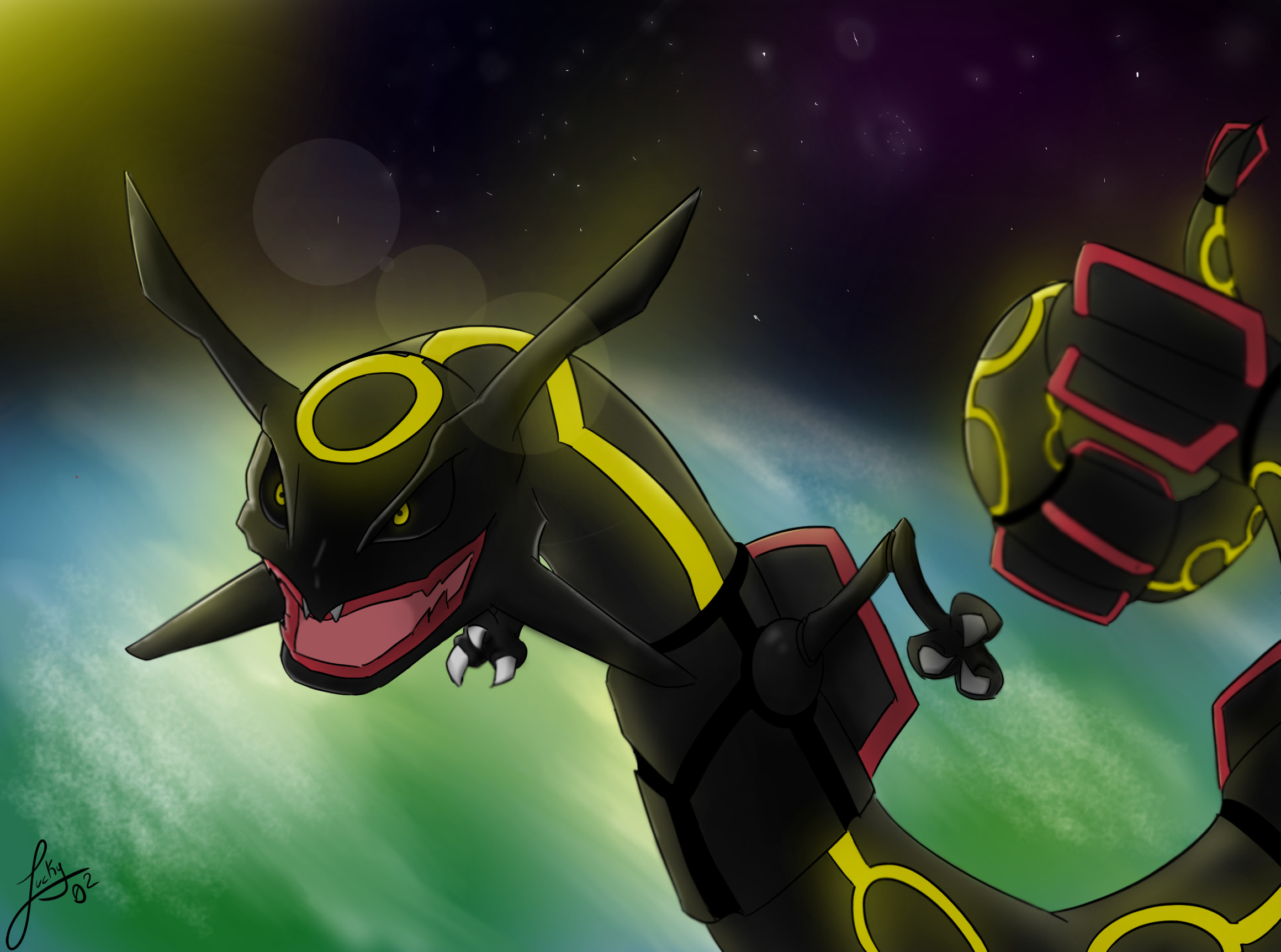 2320x1724 Shiny Rayquaza by Lucky02-Overmaster