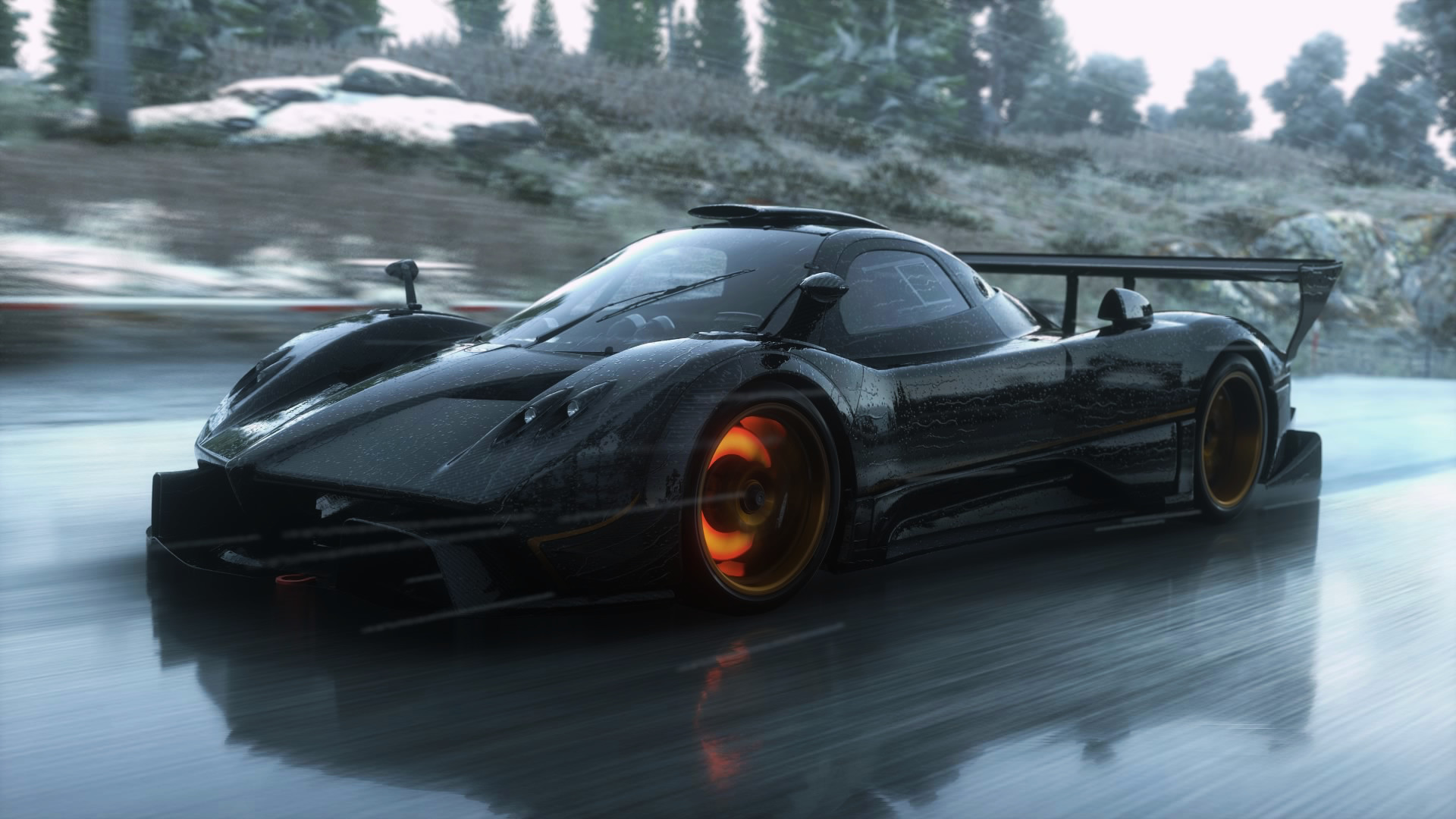 1920x1080 Pagani Zonda R in the rain.