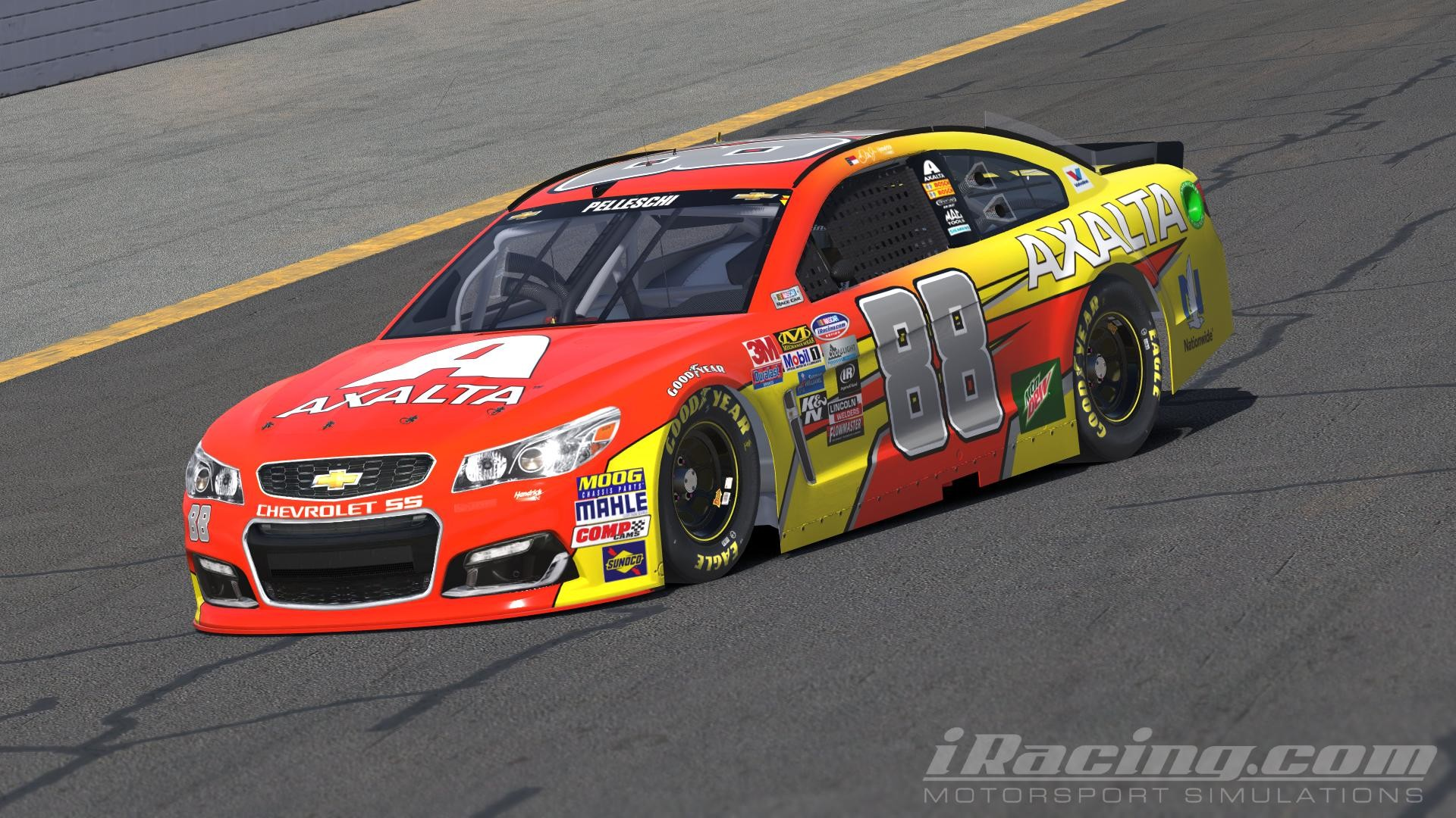 "1920x1080 Dale Earnhardt Jr. - AXALTA ""Flash Point"" INVERSE NASCAR Monster Energy Cup  Chevrolet SS by Andrew Pelleschi"