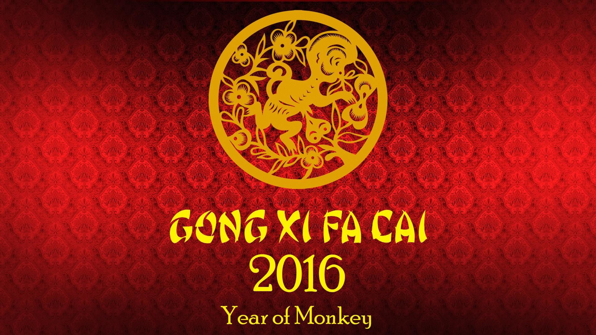 1920x1080 Chinese New Year 2016 Wallpaper - Year of Monkey | HD Wallpapers for .