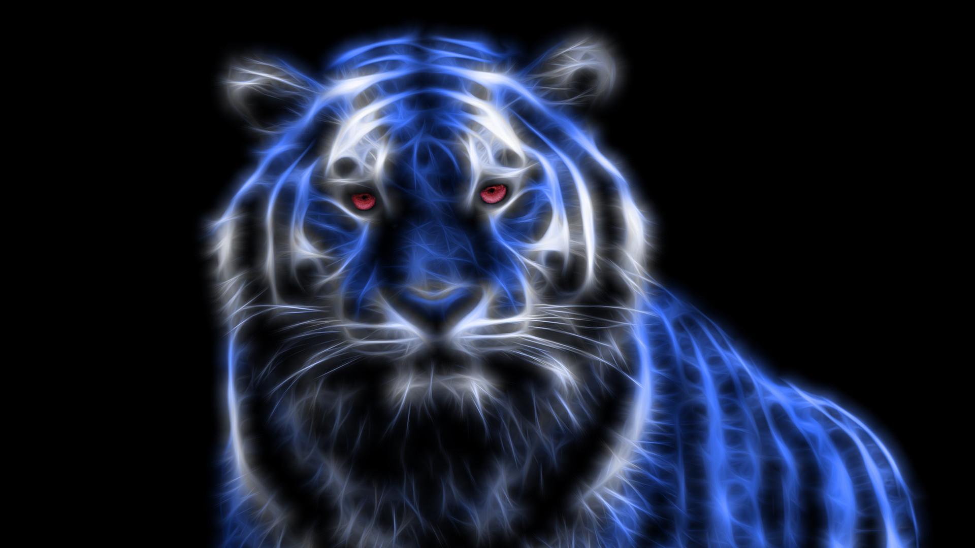 1920x1080 Neon Tiger Wallpaper #30888