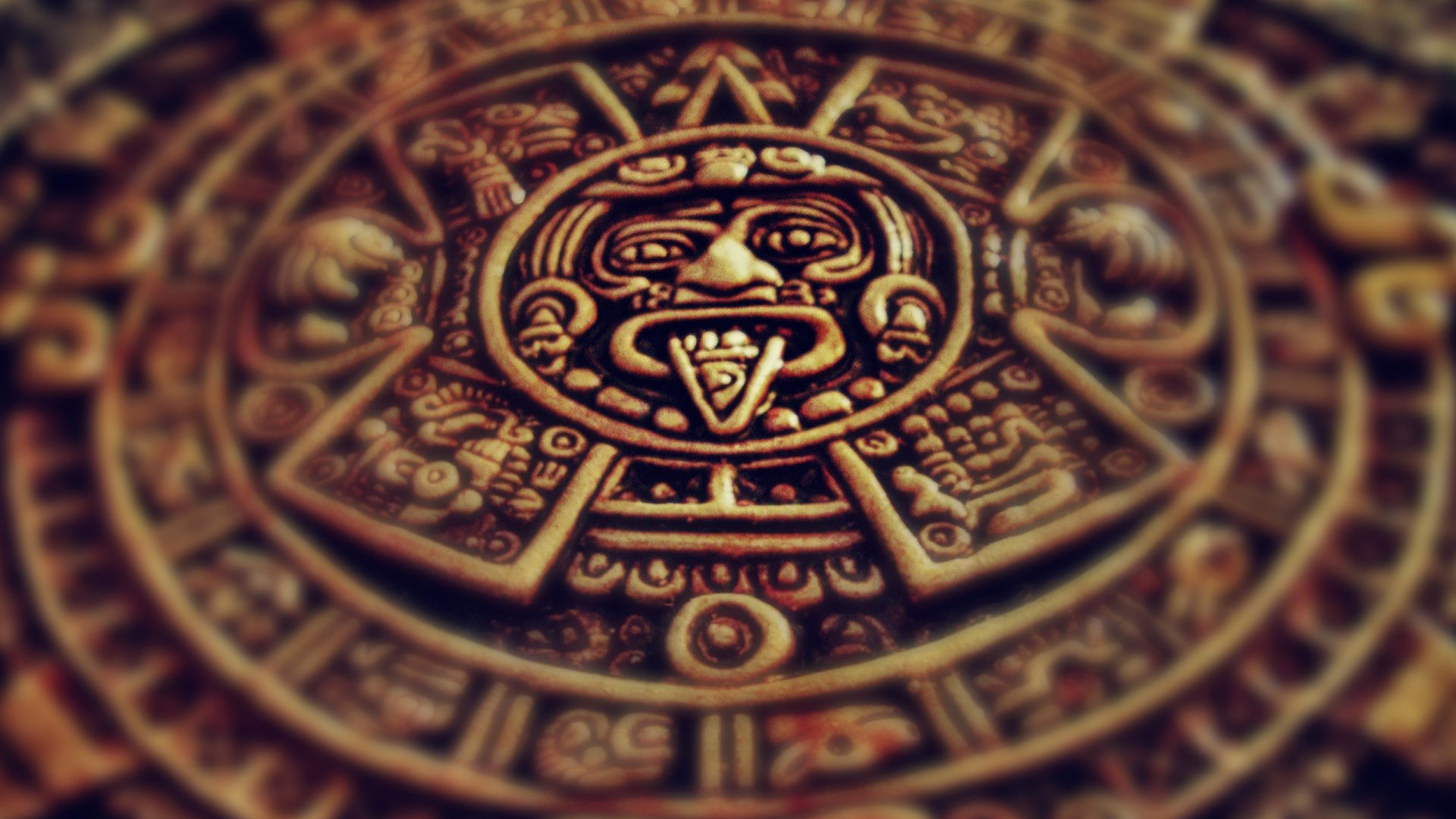 1920x1080 Aztec Calendar Wallpaper Free Download.