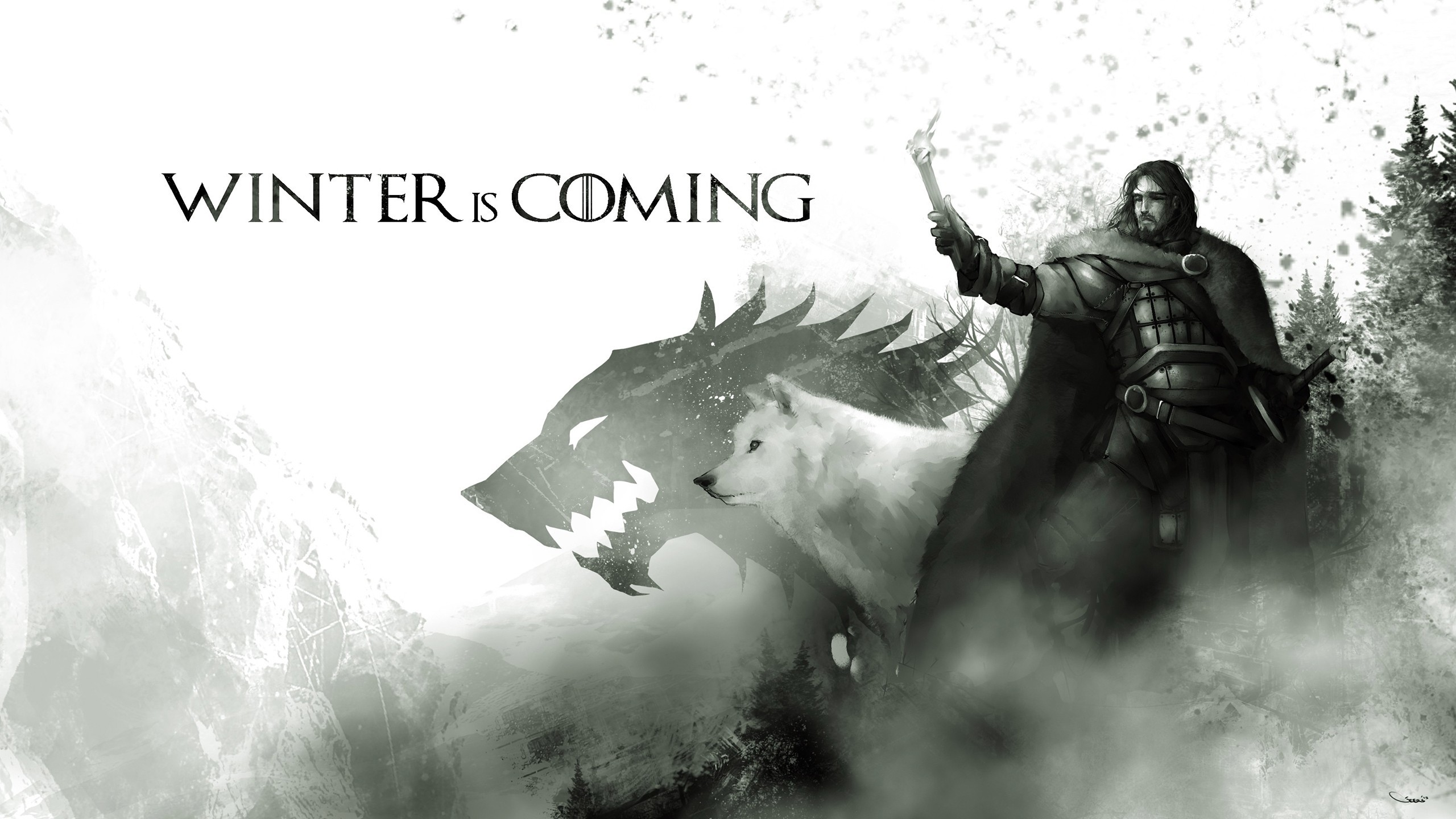 2560x1440 Game Of Thrones, Artwork, Jon Snow Wallpapers HD / Desktop and Mobile  Backgrounds