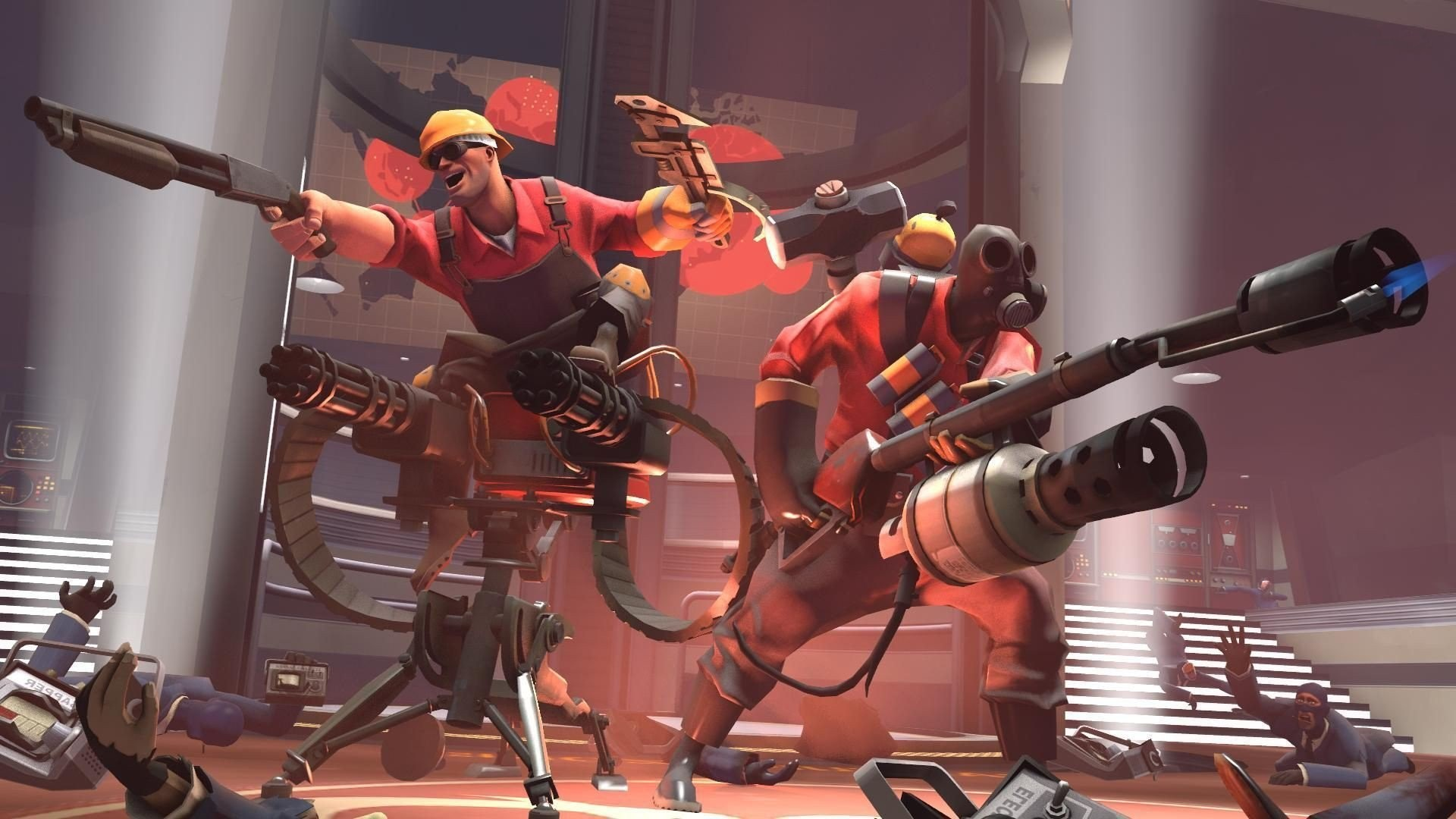 1920x1080 Video Games Artwork Team Fortress 2 Valve Corporation Pyro Engineer ...