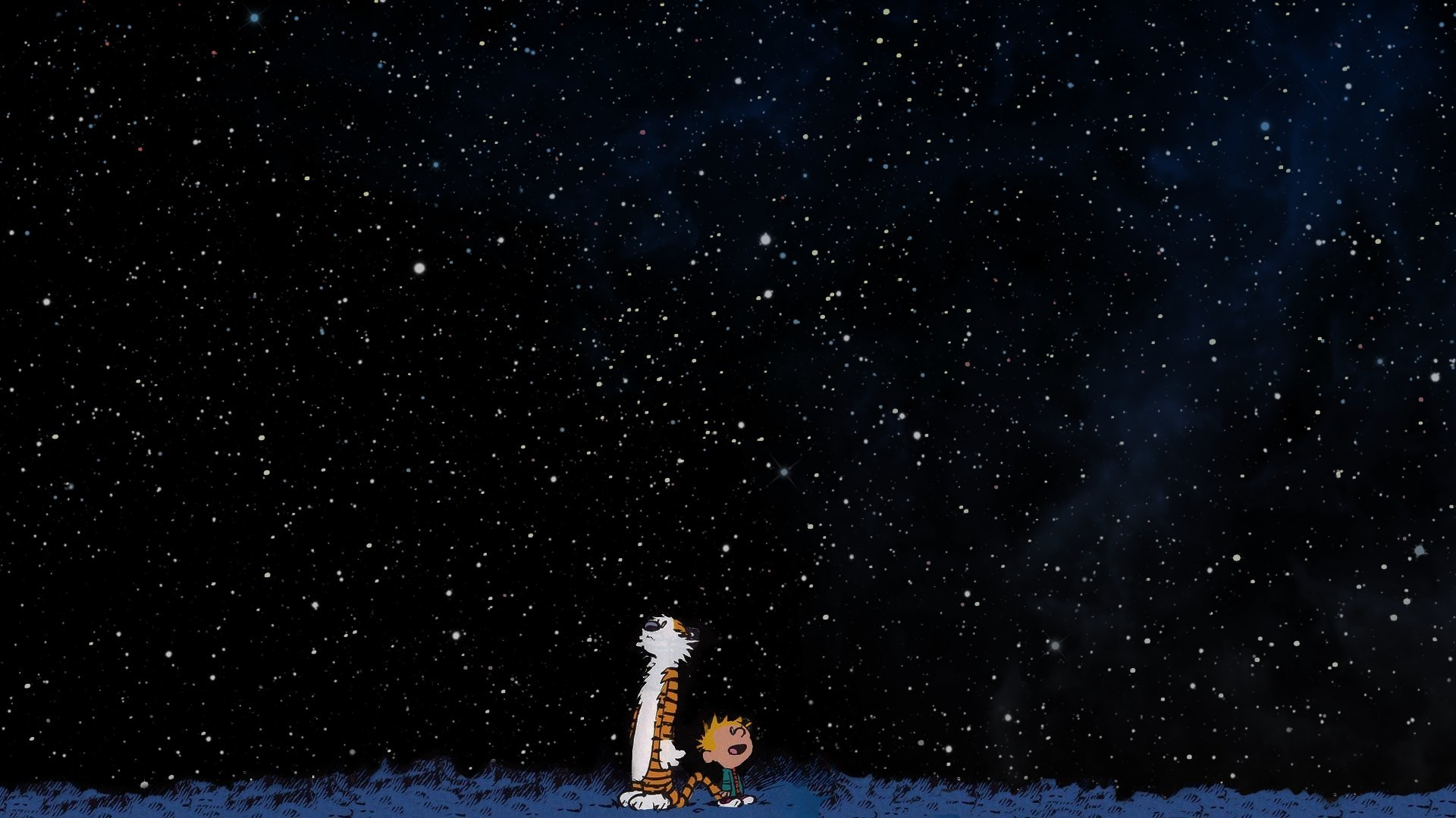 1920x1080 Calvin And Hobbes, Space, Stars Wallpapers HD / Desktop and Mobile  Backgrounds