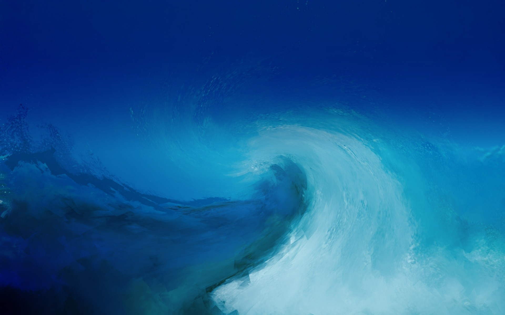 1920x1200 Wave painting texture blue light blue white ocean sea water storm wallpaper  |  | 56196 | WallpaperUP