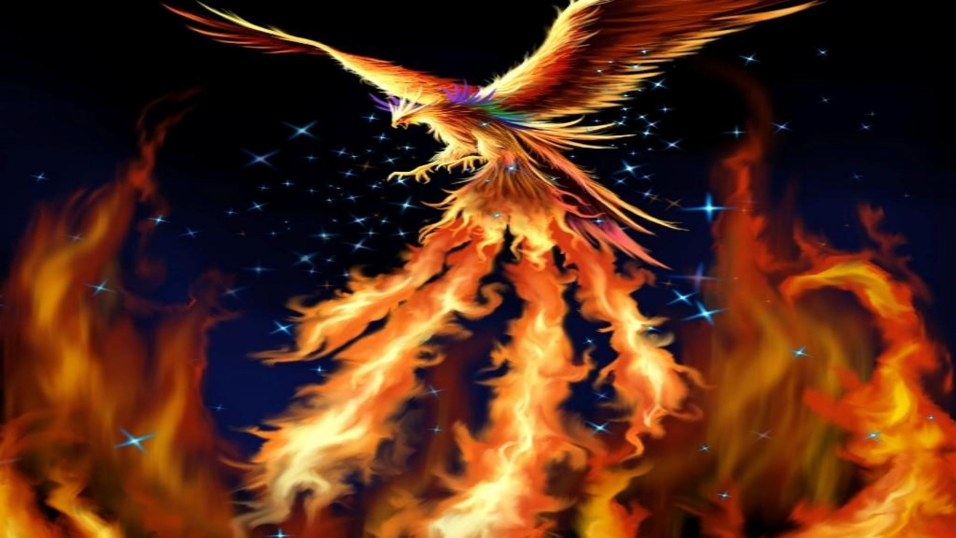 1920x1080 Fantasy-fire-bird-phoenix-wallpaper-HD