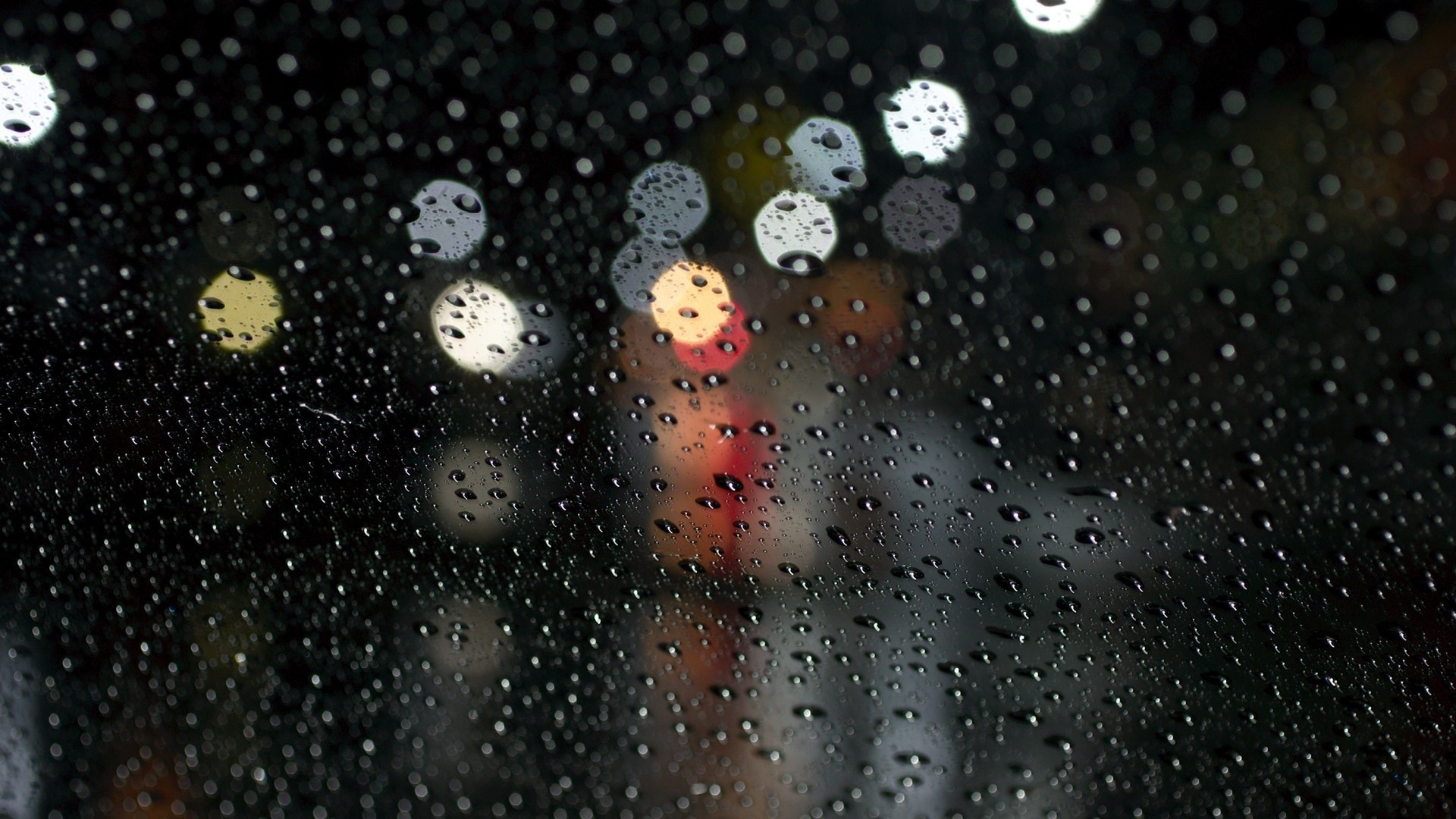 1920x1080 Preview wallpaper rain, glare, surface, drops