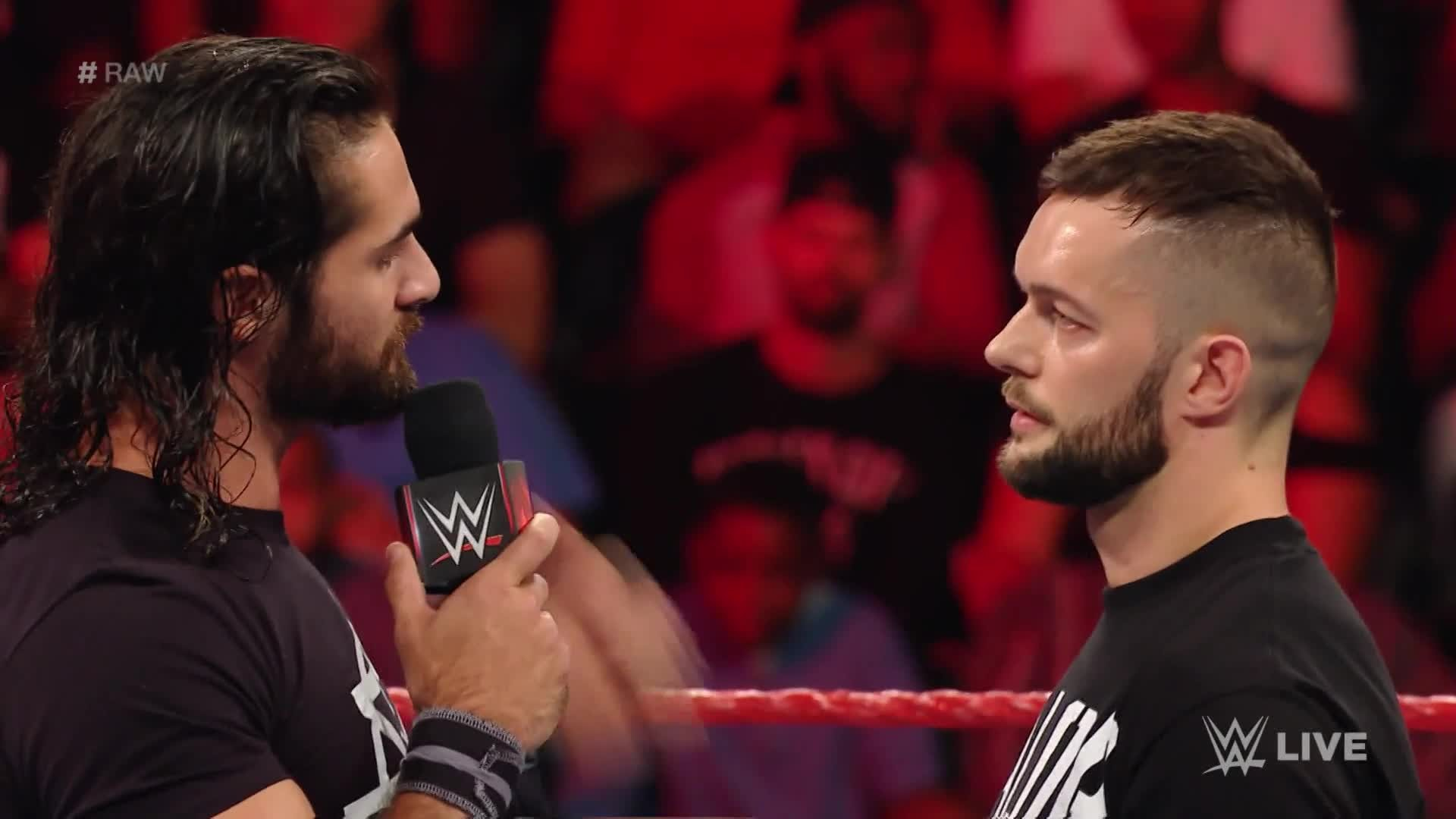 1920x1080 Seth Rollins ran down his SummerSlam opponent, Finn Balor, on Raw – before  receiving a Pele Kick as punishment