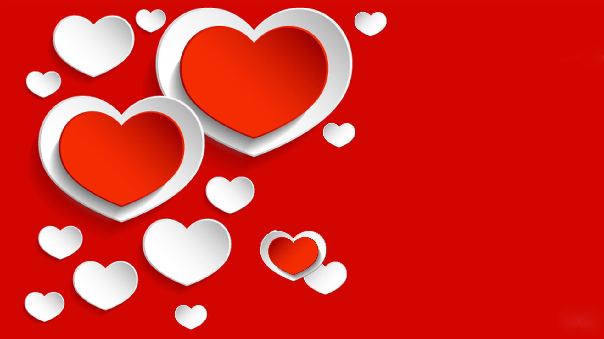 1920x1080 red-wallpaper-white-heart-creative-image-free. Â«Â«