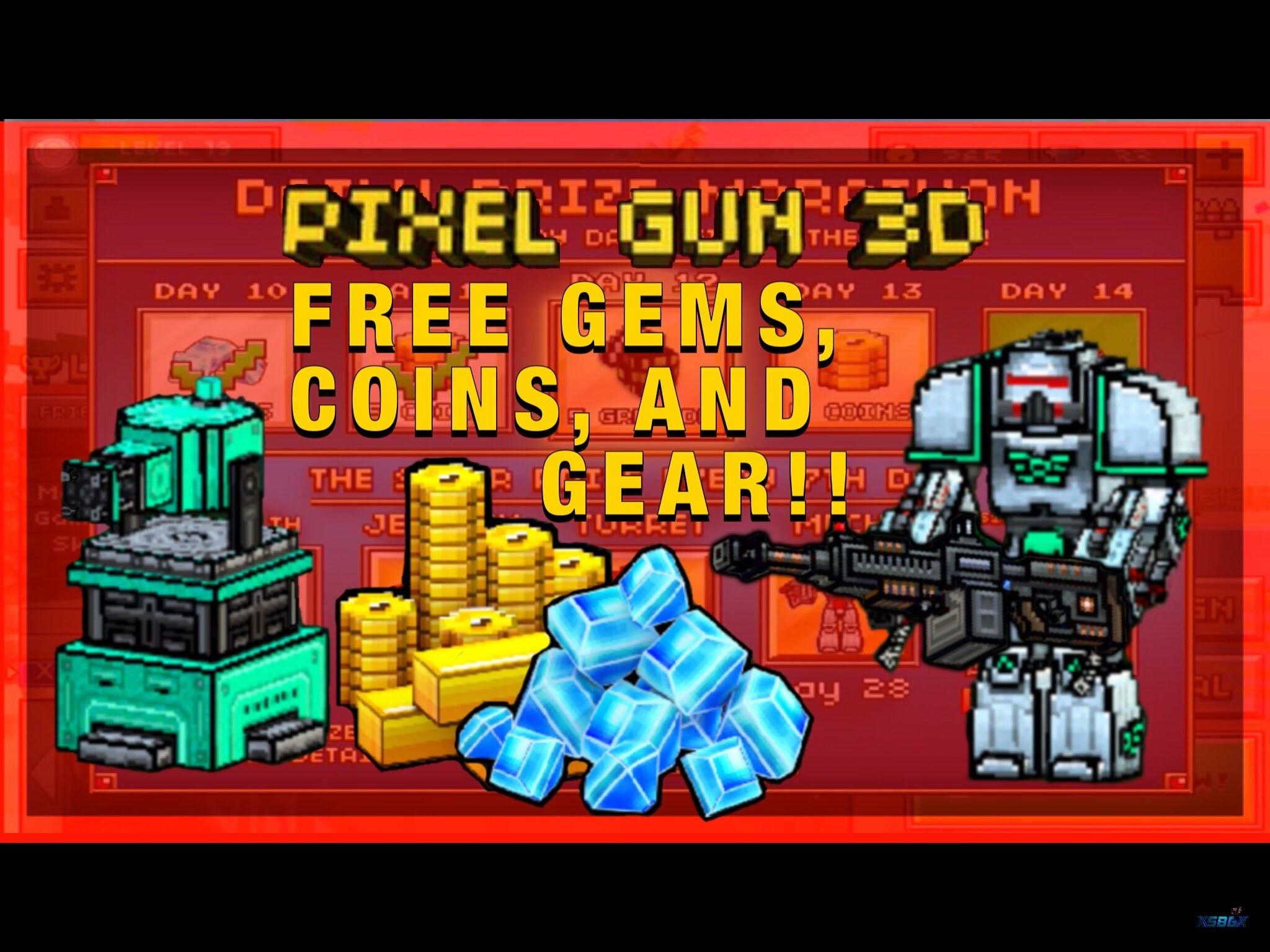 pixel gun 3d free coins and gems