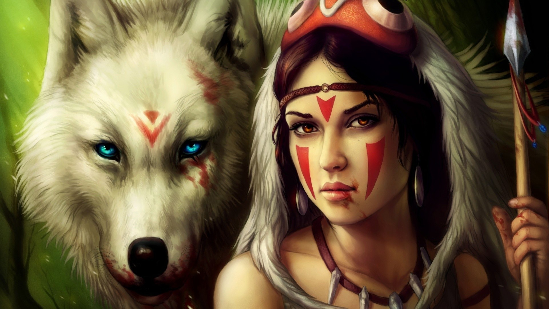 1920x1080 Native America, Indian, Wolf, Indian And Wolf