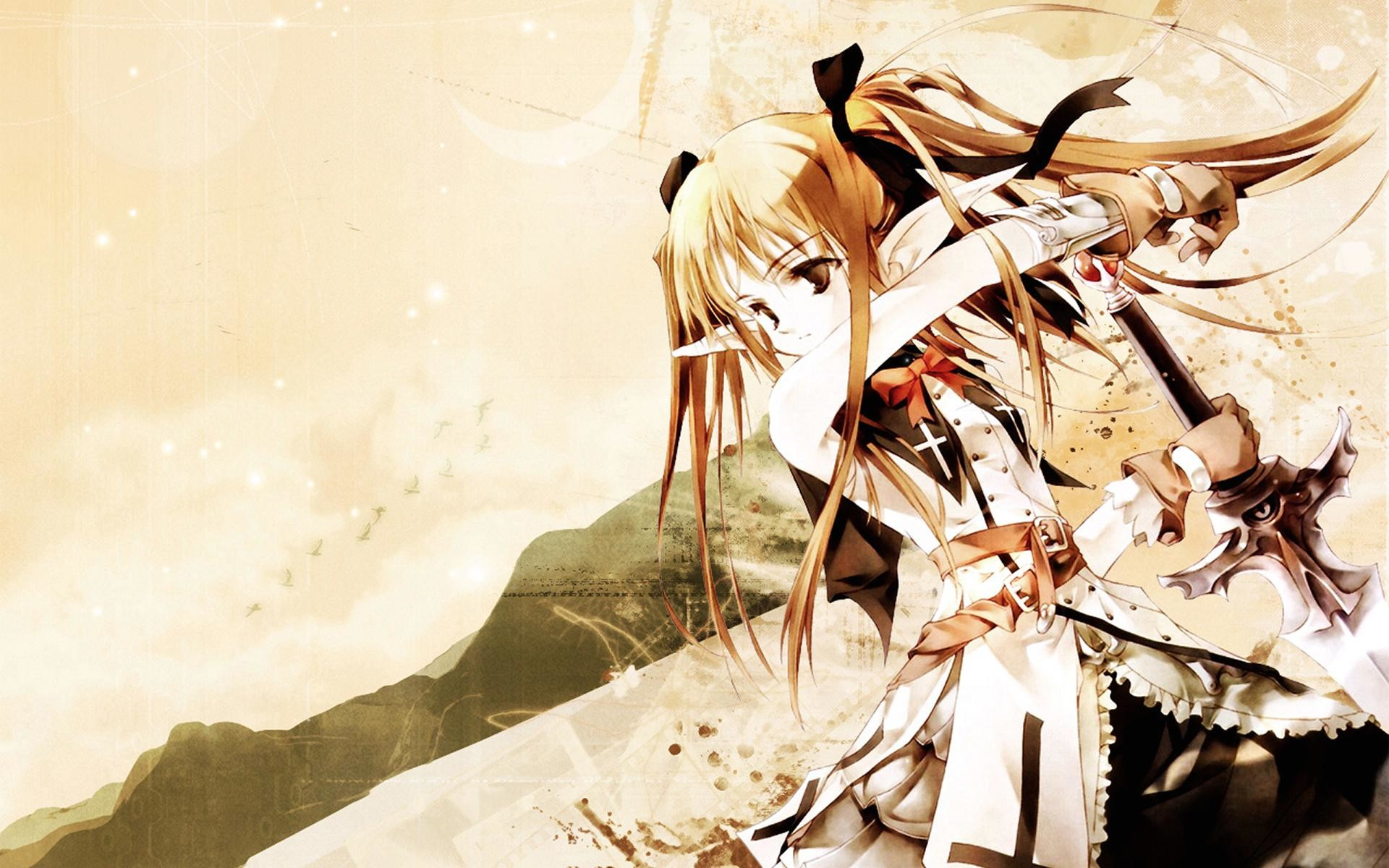 1920x1200 Japanese Anime Female Warrior | Wallpaper warrior girl anime
