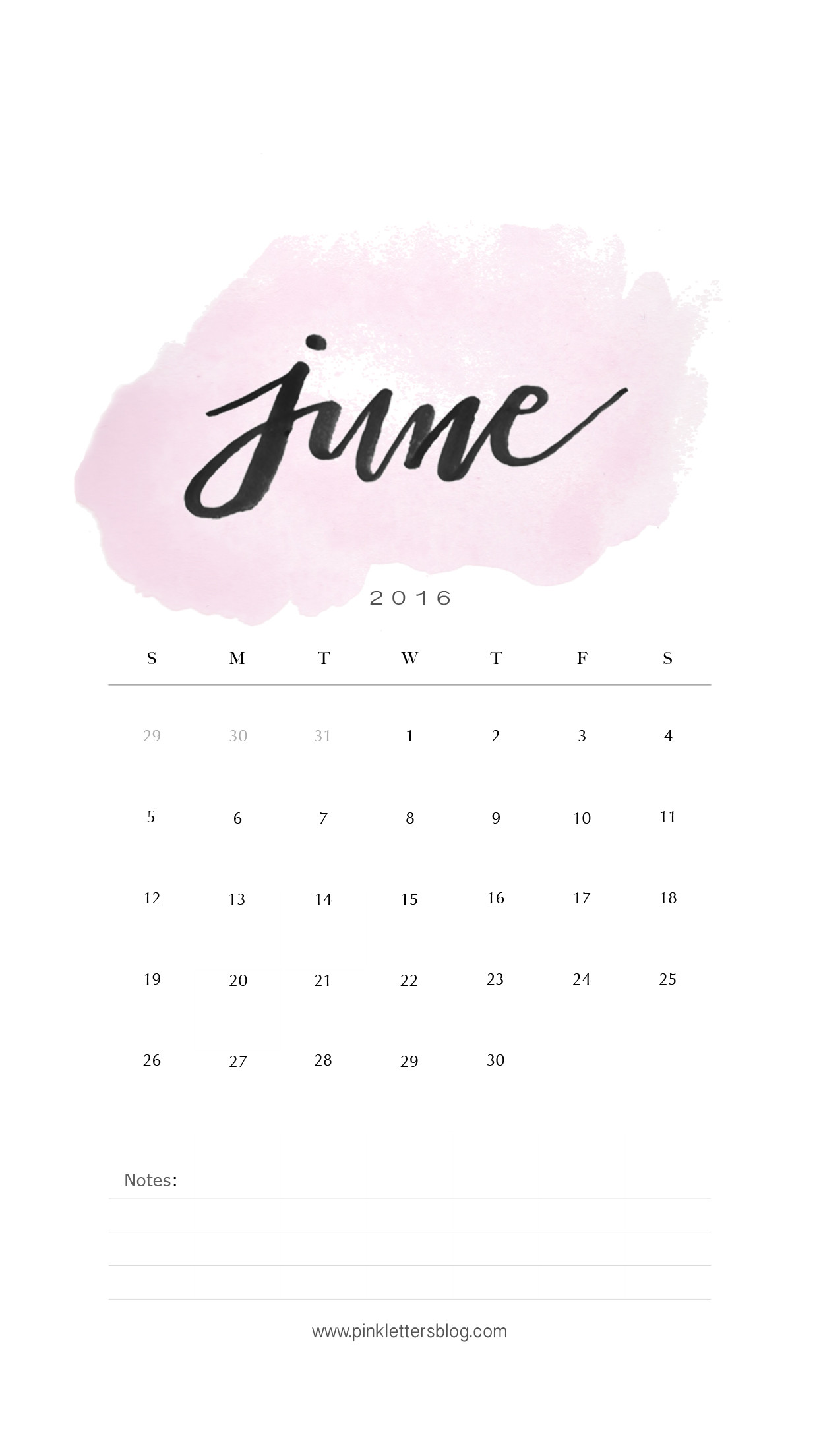 1242x2208 June 2016 calendar lockscreen. Iphone lockscreen. Birthday CalenderWallpaper  ...