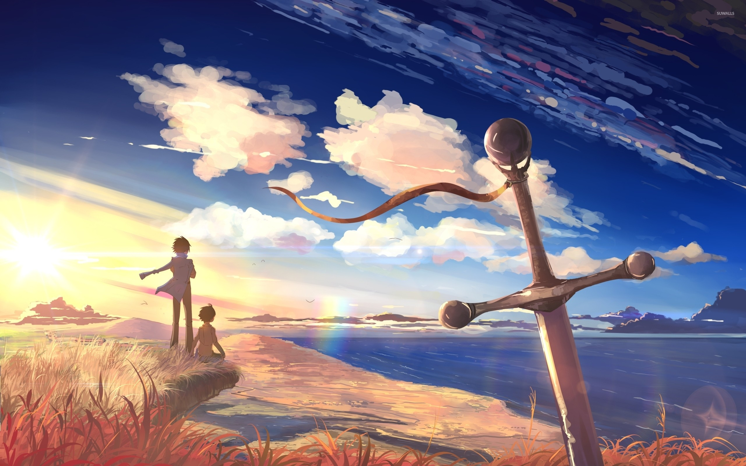 2560x1600 Beautiful sunset in 5 Centimeters Per Second wallpaper