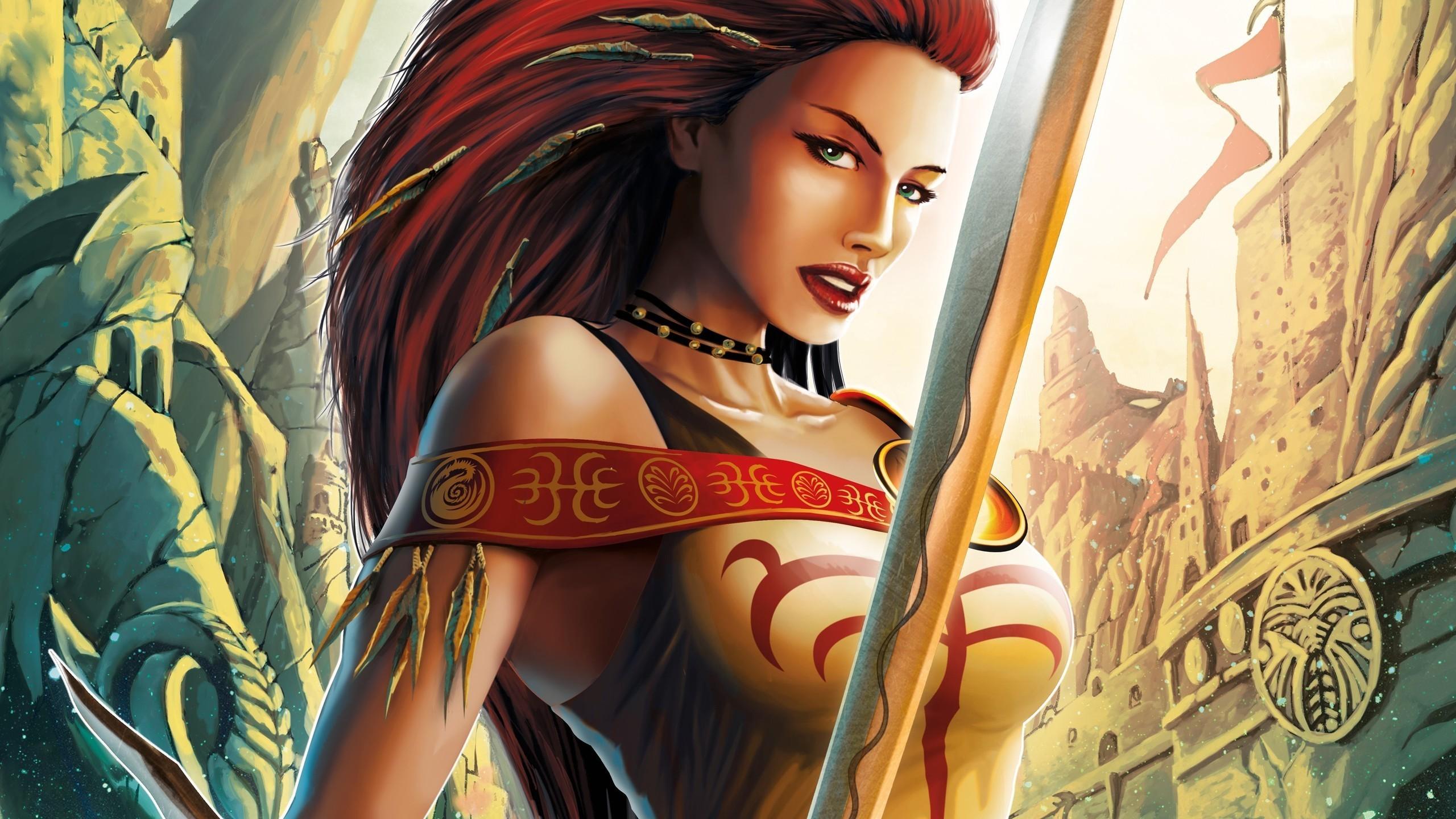Fantasy women warriors wallpaper 84 images - Fantasy female warrior artwork ...