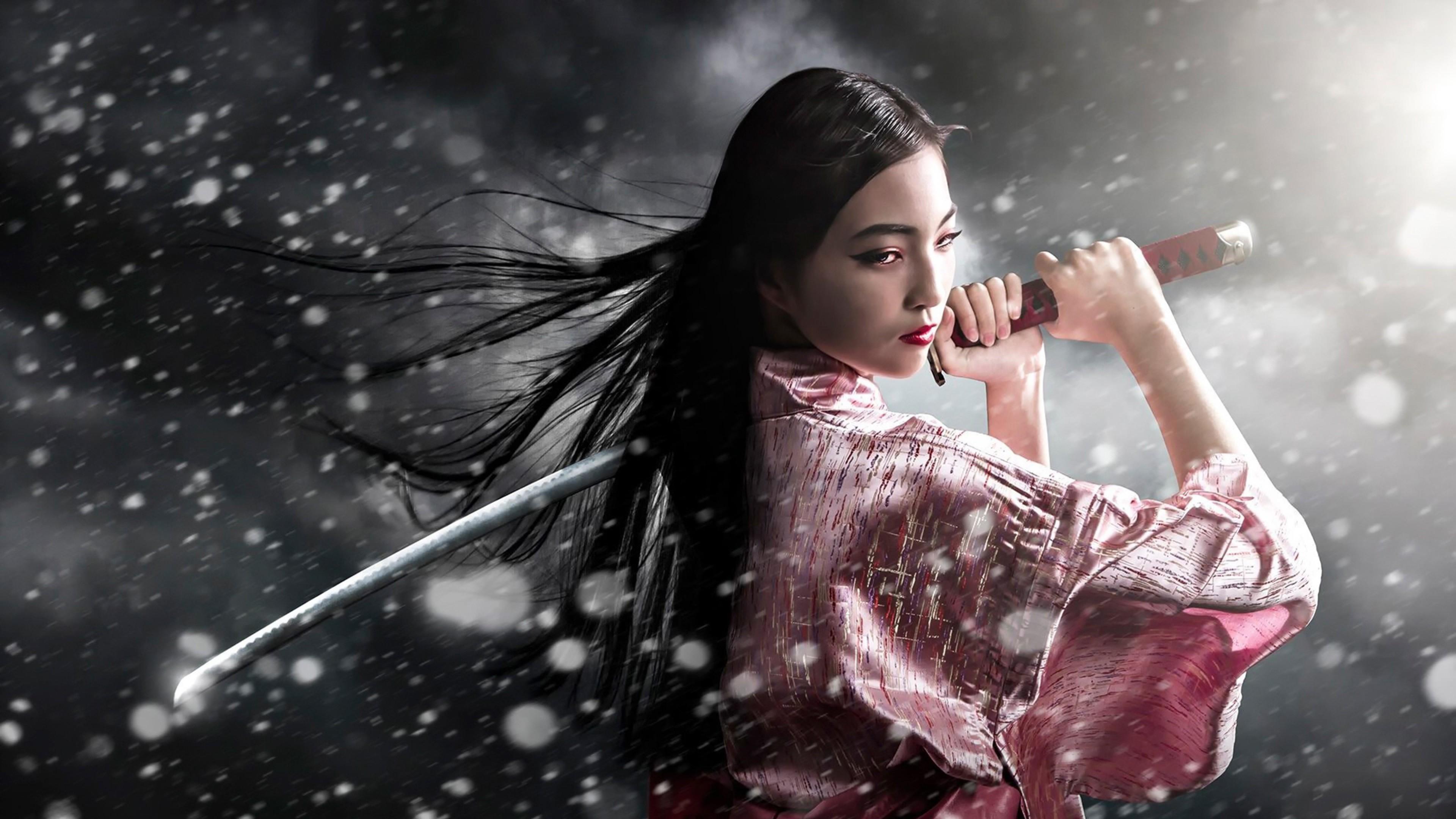 Anjaneyasana With Girl 4k Wallpaper: Female Anime Samurai Wallpaper (65+ Images